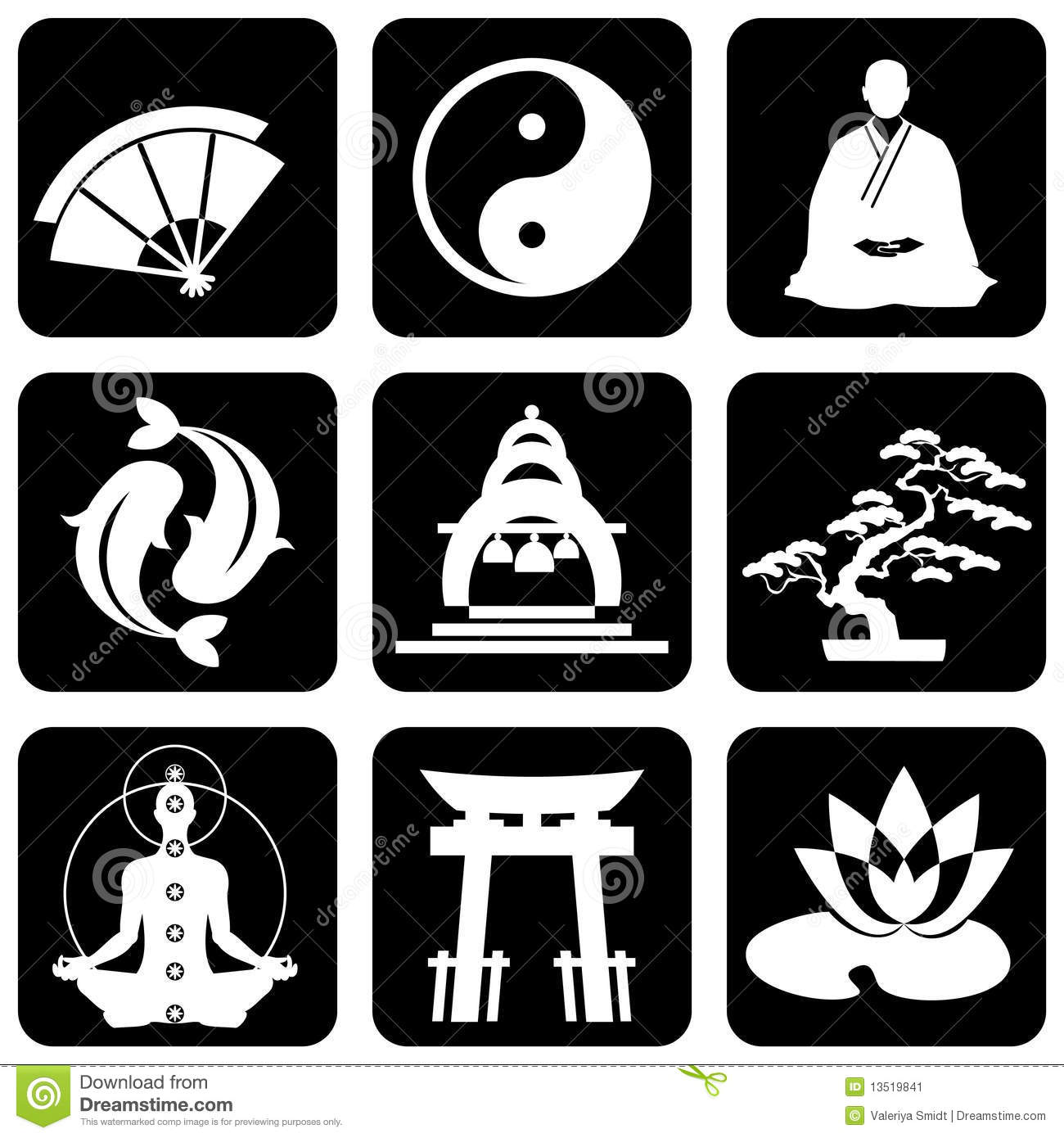 Religious Symbols Stock Vector Illustration Of Buddha 13519841
