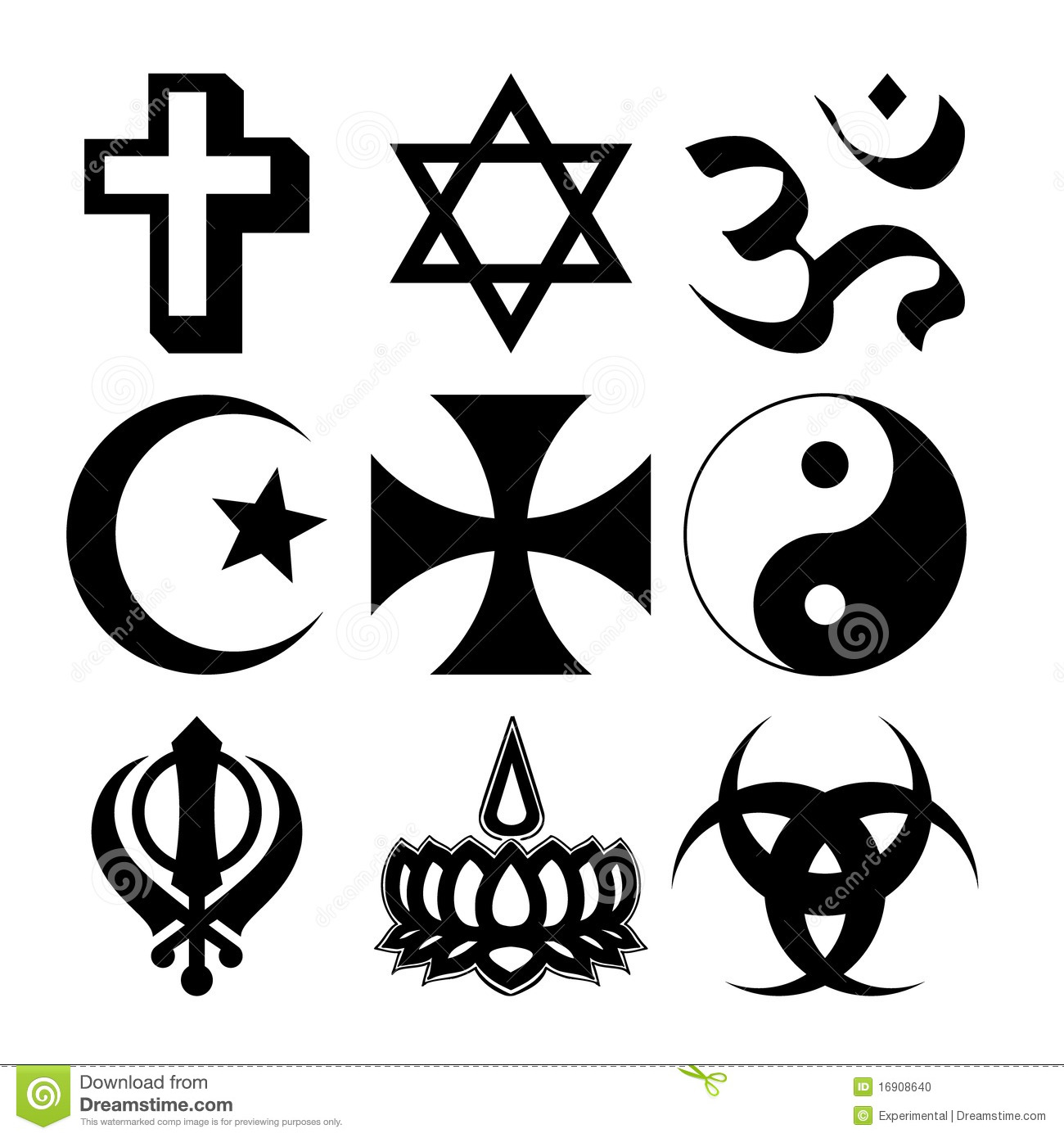 Nine religious symbols stock vector illustration of ministry religious symbols stock photo biocorpaavc Image collections