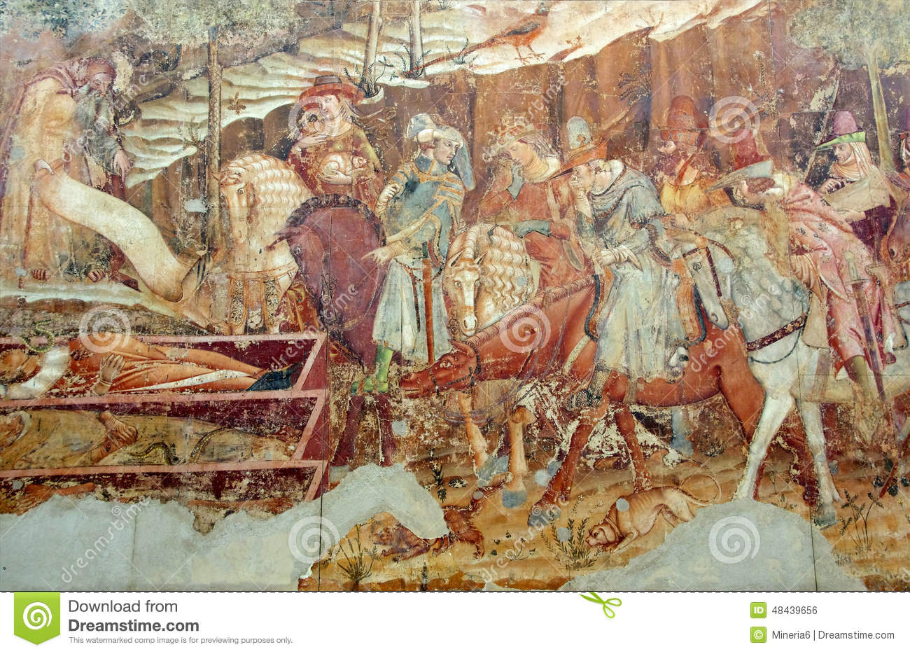 religious wall painting stock photo image 48439656 ancient camposanto cemetery christian italy mural painting pisa religious wall