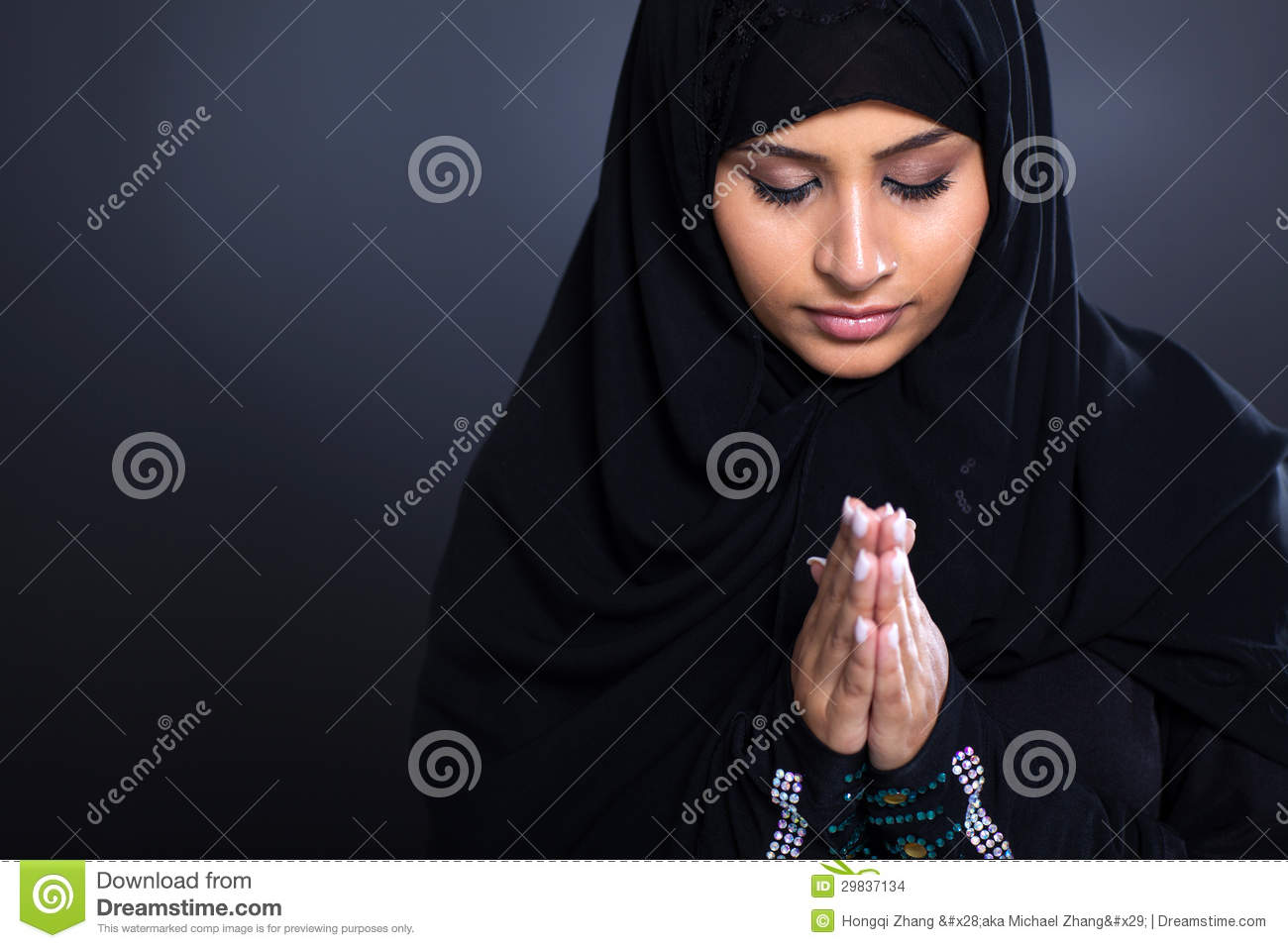 Young Woman Praying Stock Photo Photo | Male Models Picture