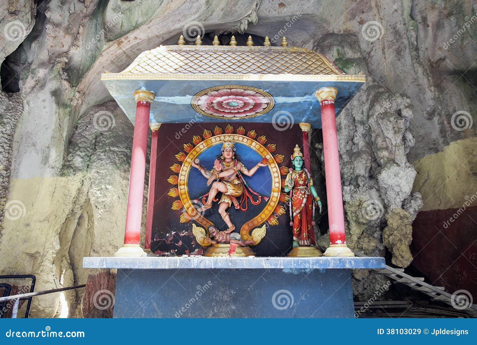 Relikskrin med statyn av den hinduiska guden Shiva Nataraja