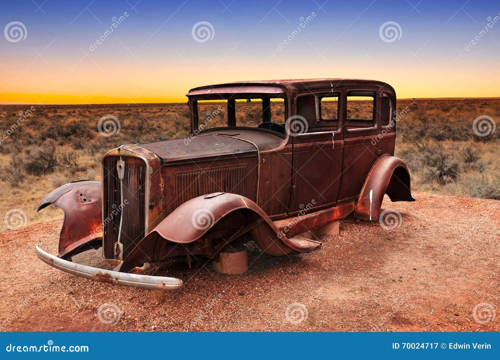 Relique de voiture de vintage de Route 66