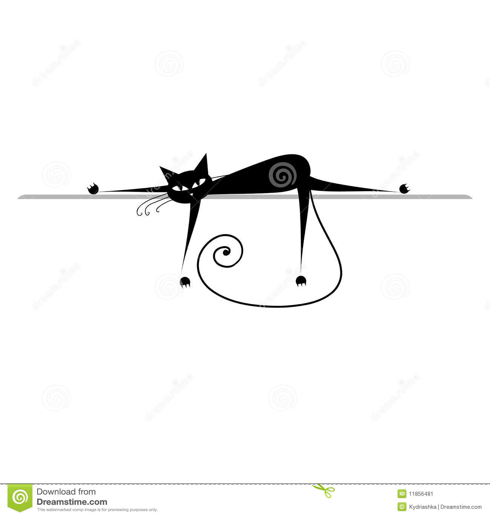 silueta de gato negro - photo #36