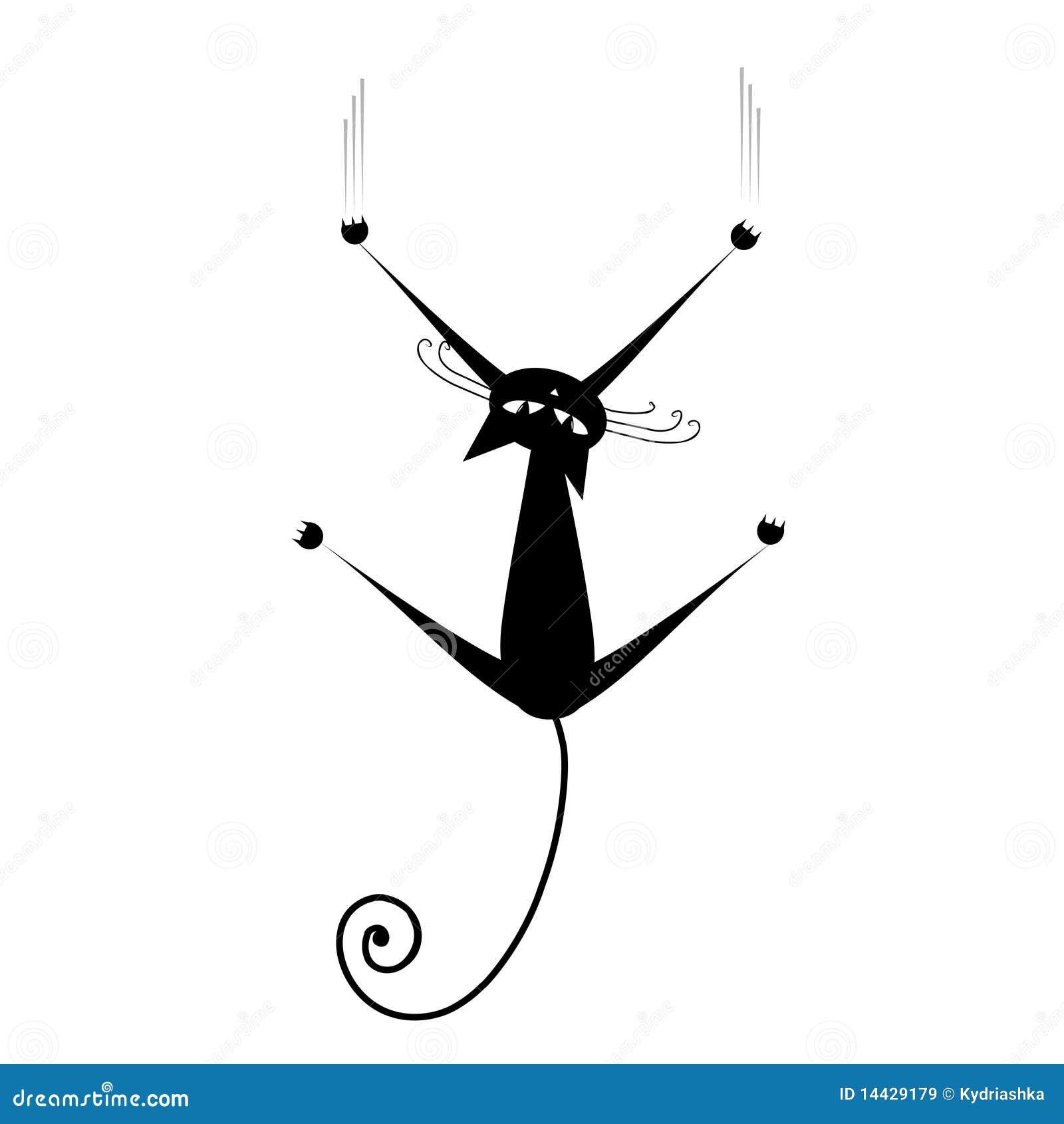 silueta de gato negro-#42