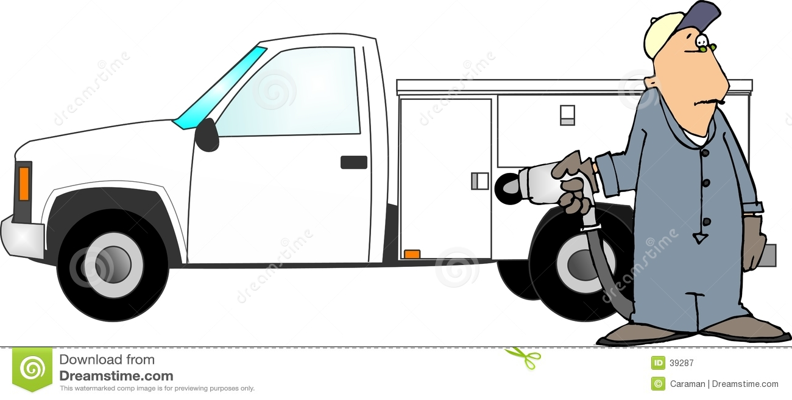 Relleno de un carro del gas
