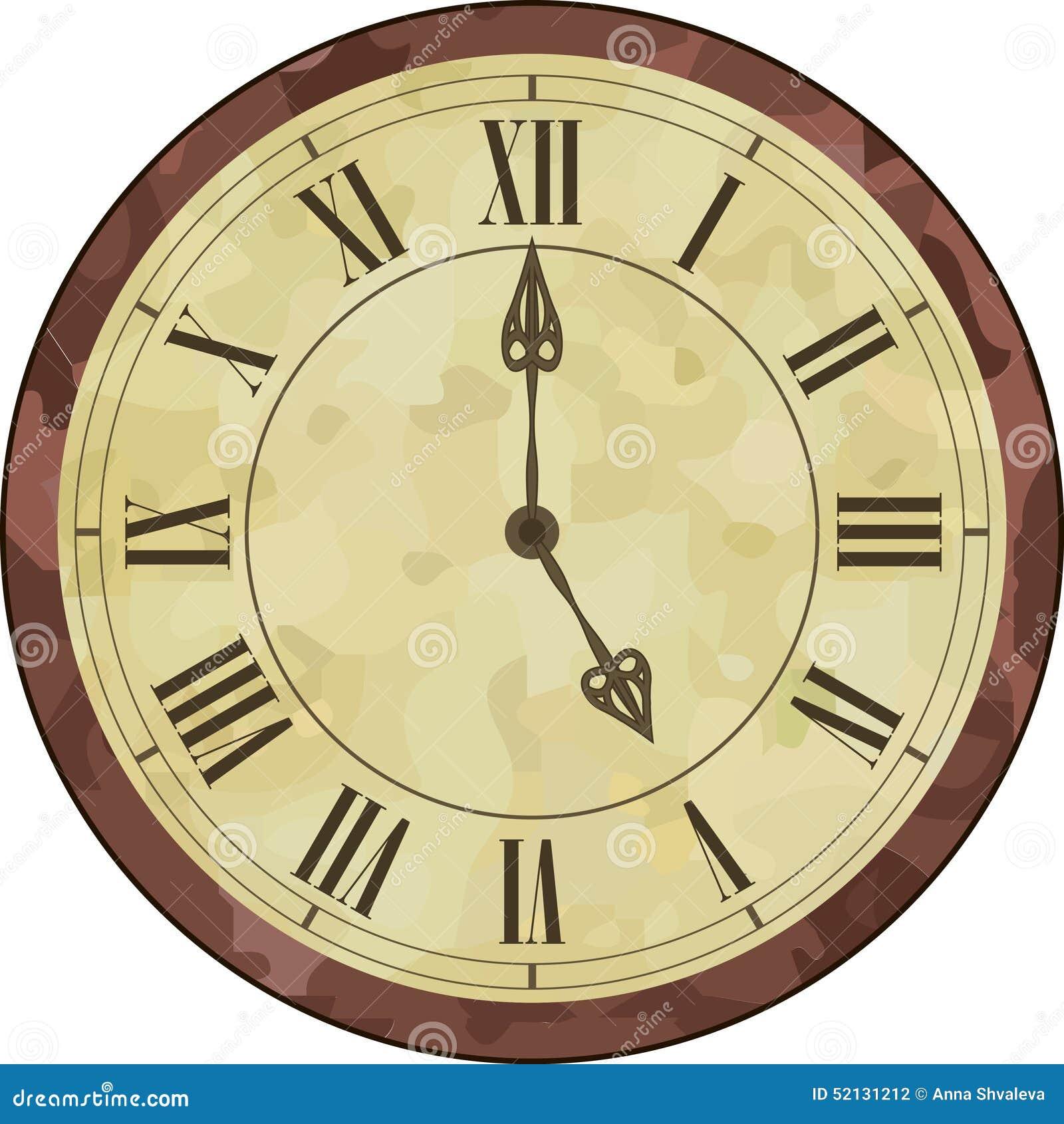 reloj antiguo del n mero romano ilustraci n del vector