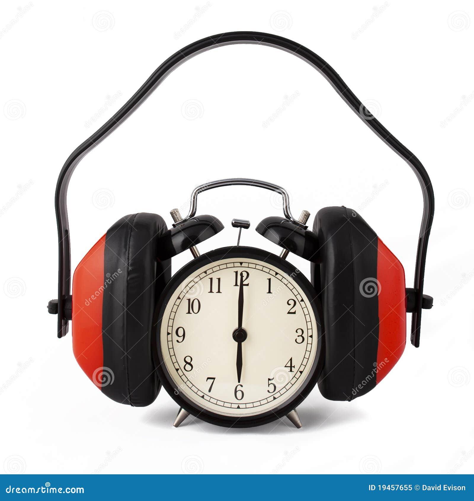 Ruido Reloj Encendido De El Alarma Con Los Contra Protectores KlcF1J