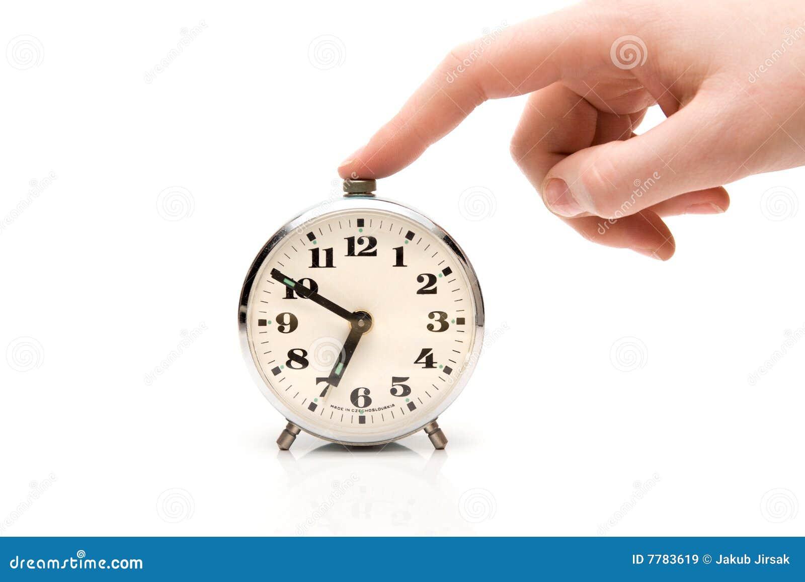 Reloj de alarma del silencio