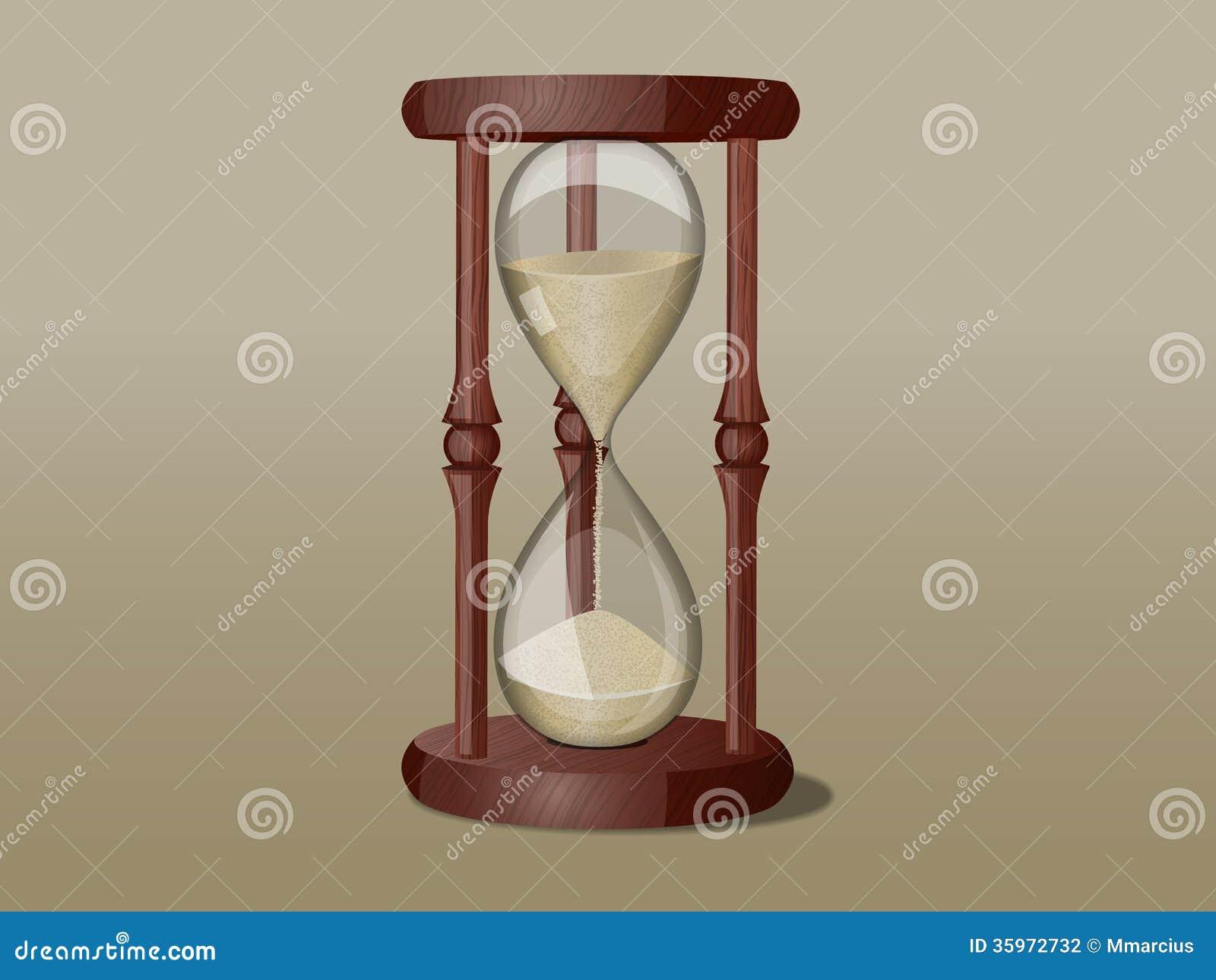 Reloj de arena del vector