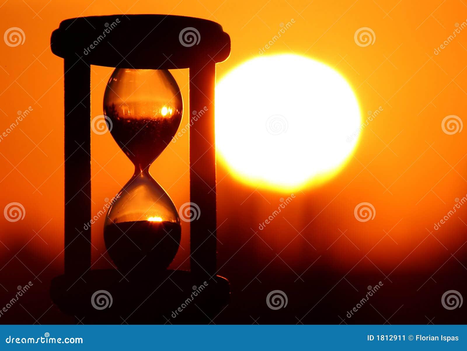 Reloj De Arena En Puesta Del Sol Imagen De Archivo Imagen De