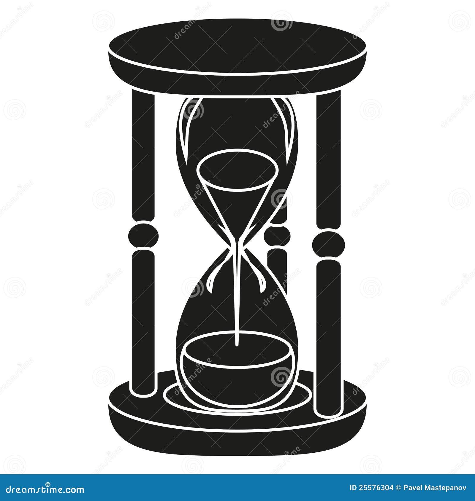 Reloj De Arena Negro Ilustración Del Vector Ilustración De Longitud