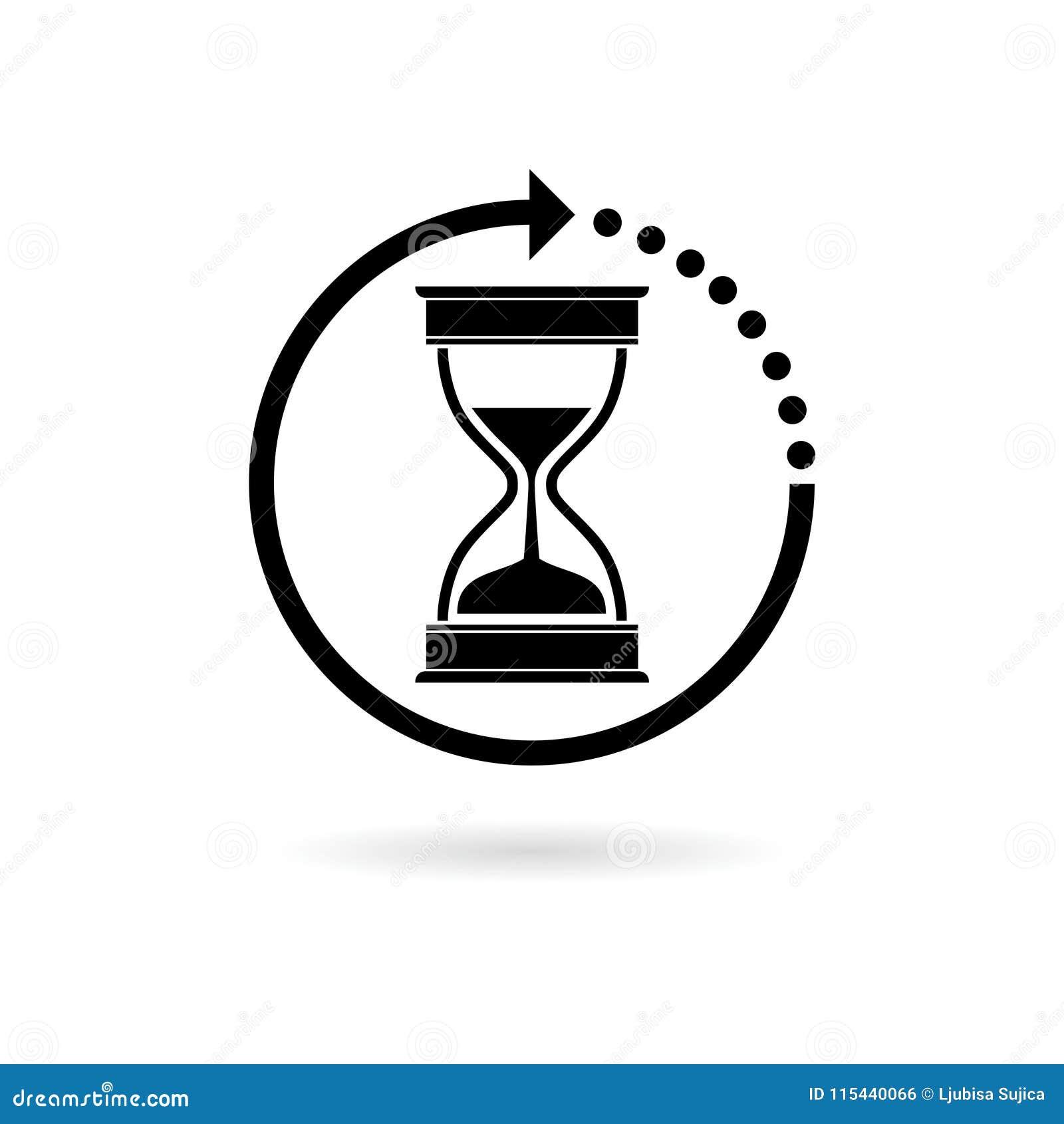 Reloj De Arena Negro Sandglass Contador De Tiempo De La Arena