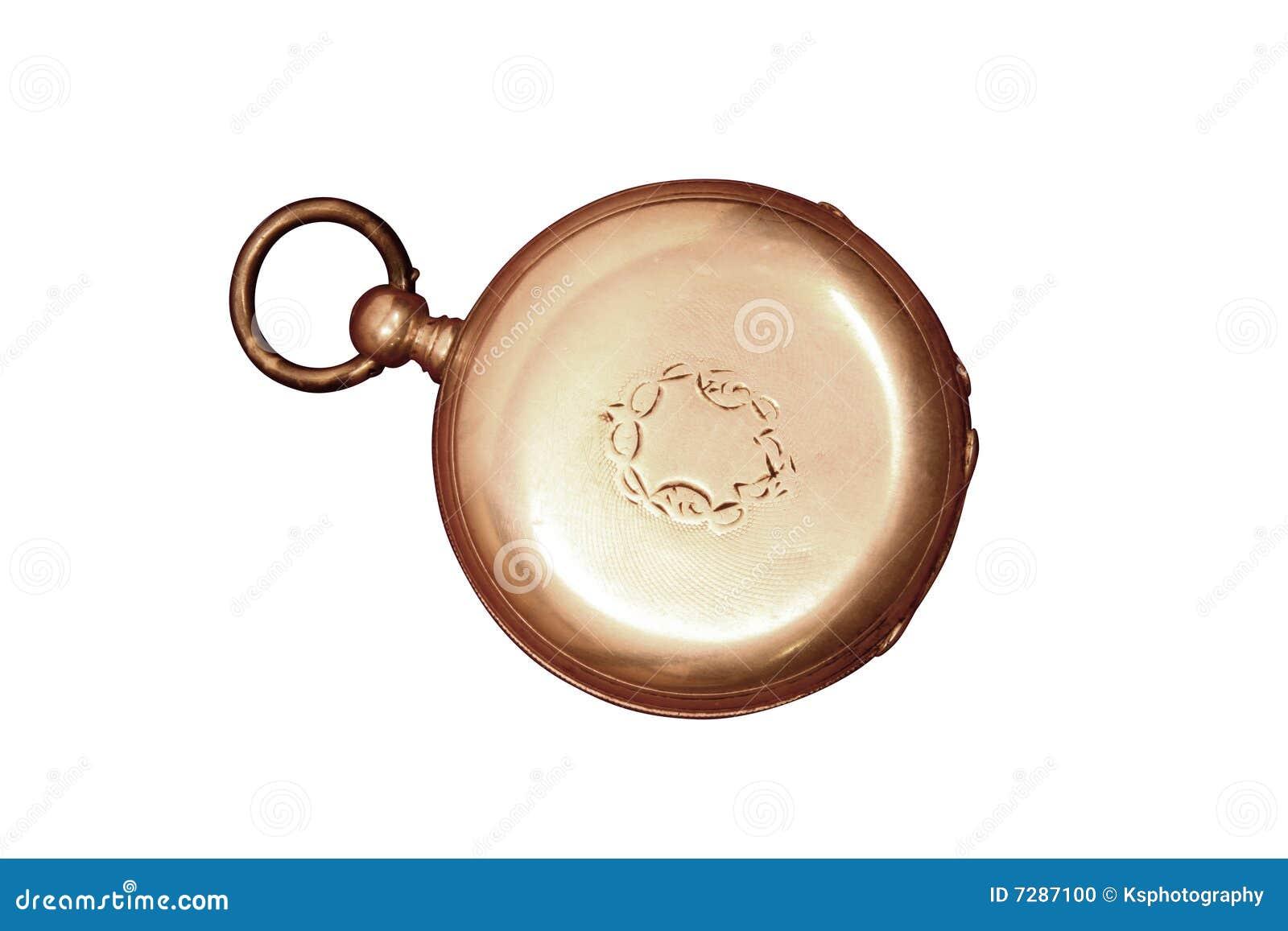 Reloj de bolsillo antiguo gastado