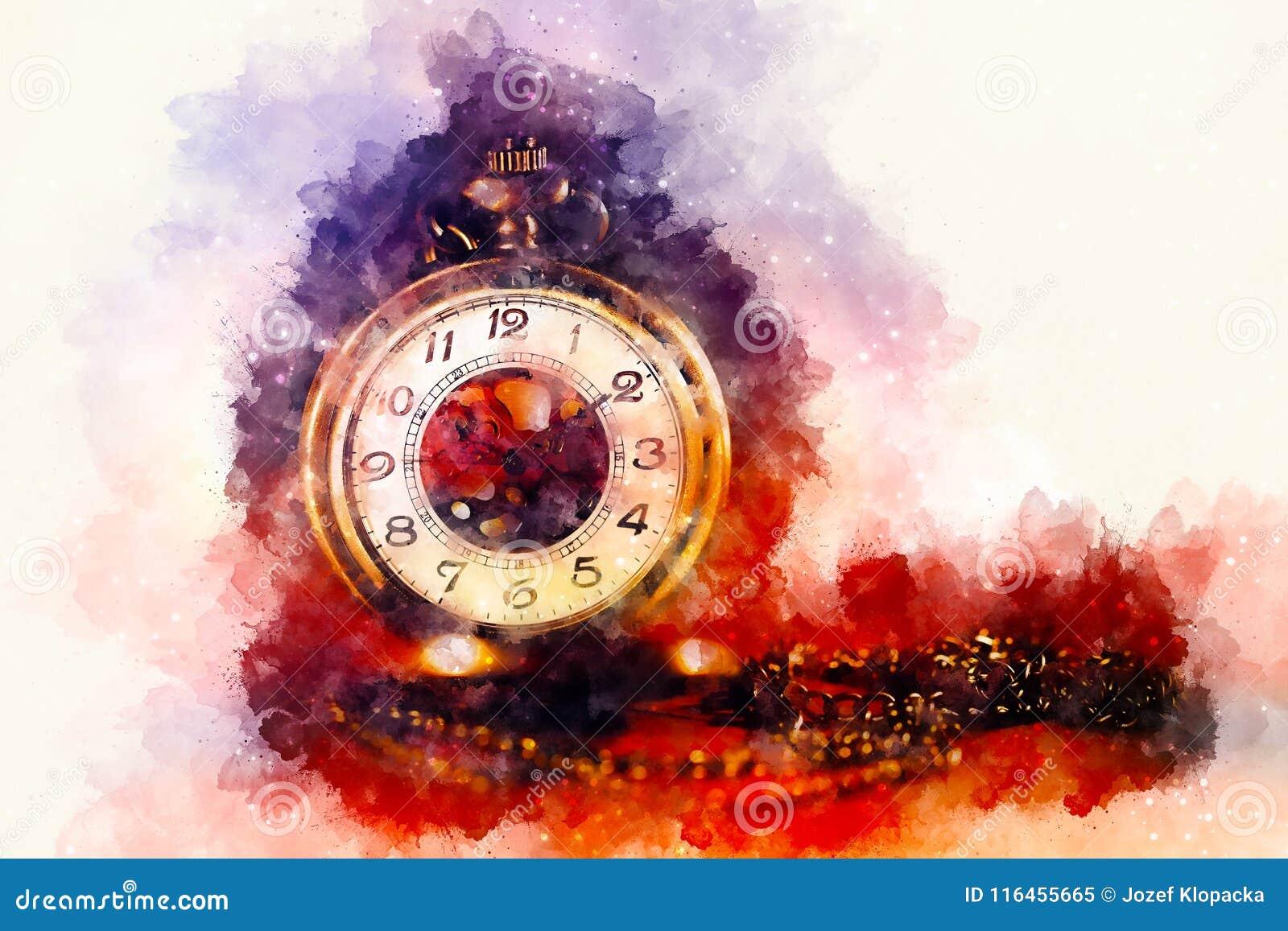 Suavemente De Vintage La Borroso Fondo Reloj Y Bolsillo Del 543RqjLA
