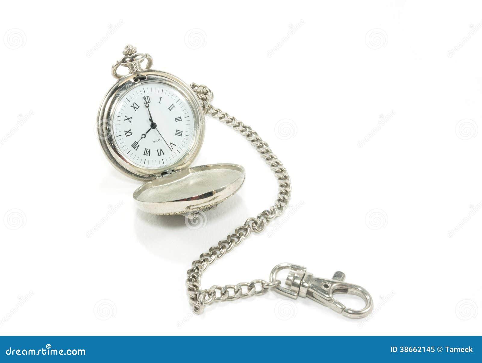 Reloj de bolsillo viejo con la cadena imagen de archivo - Reloj de cadena ...