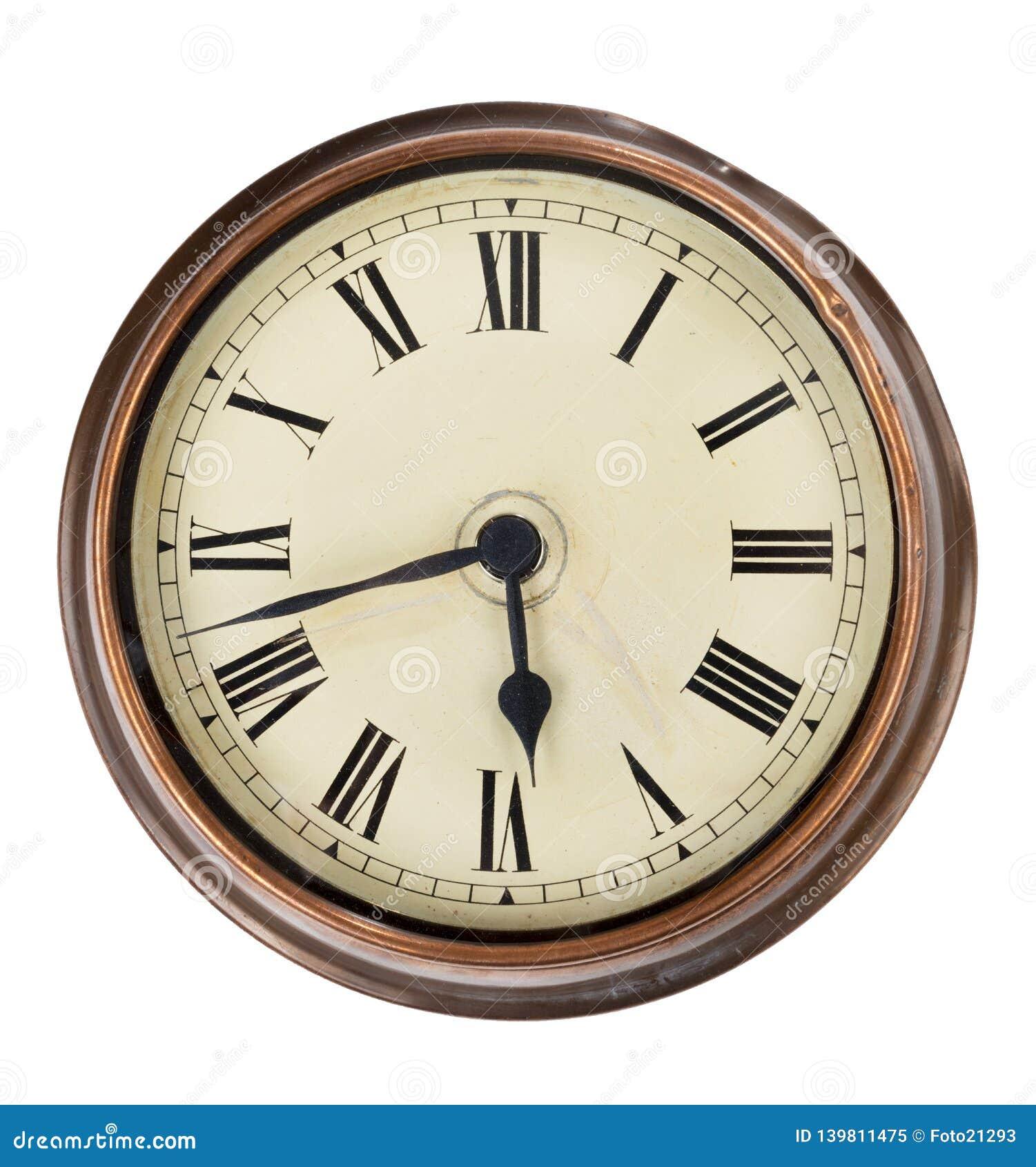 Reloj de madera viejo