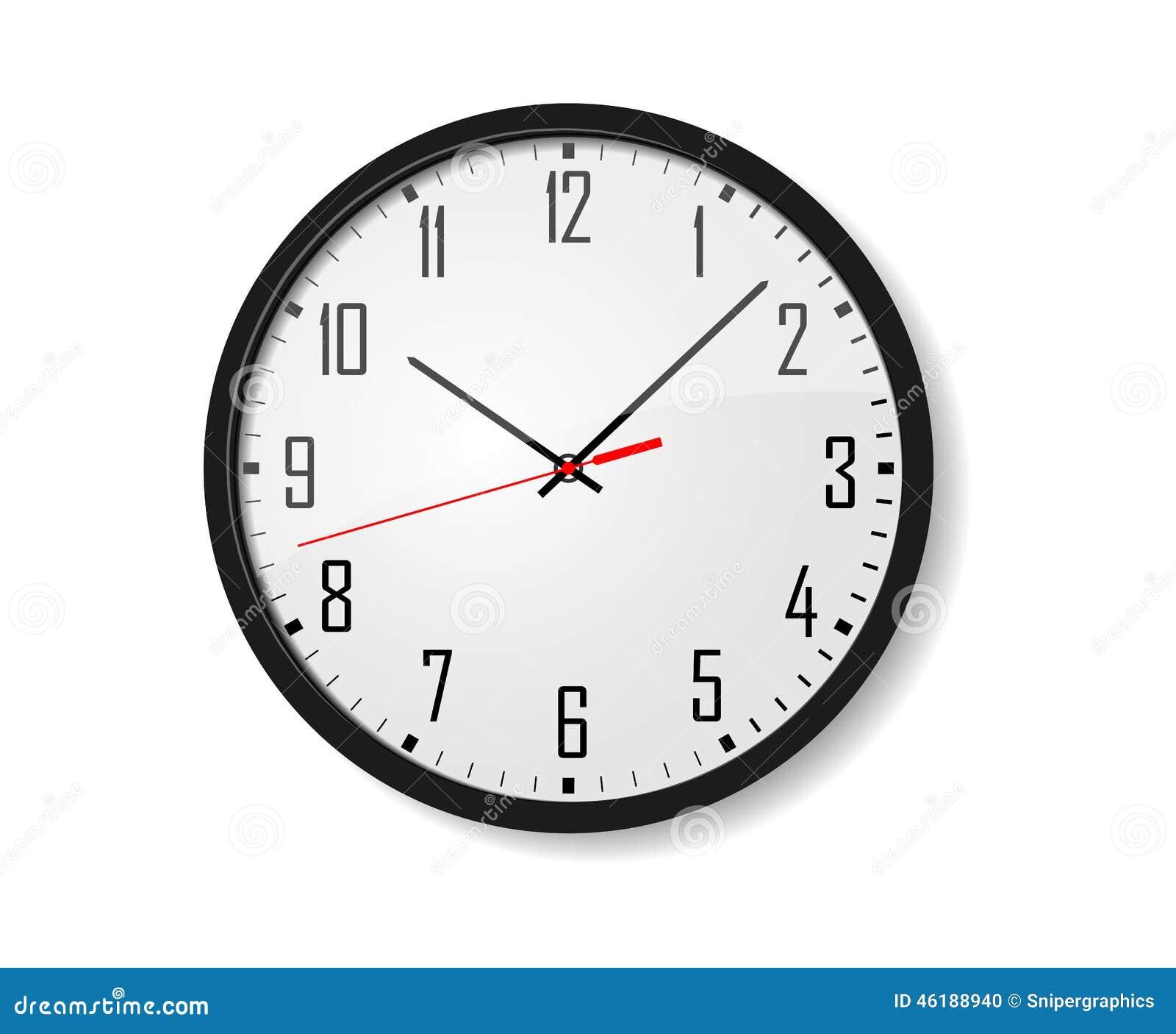 Reloj de pared del vector