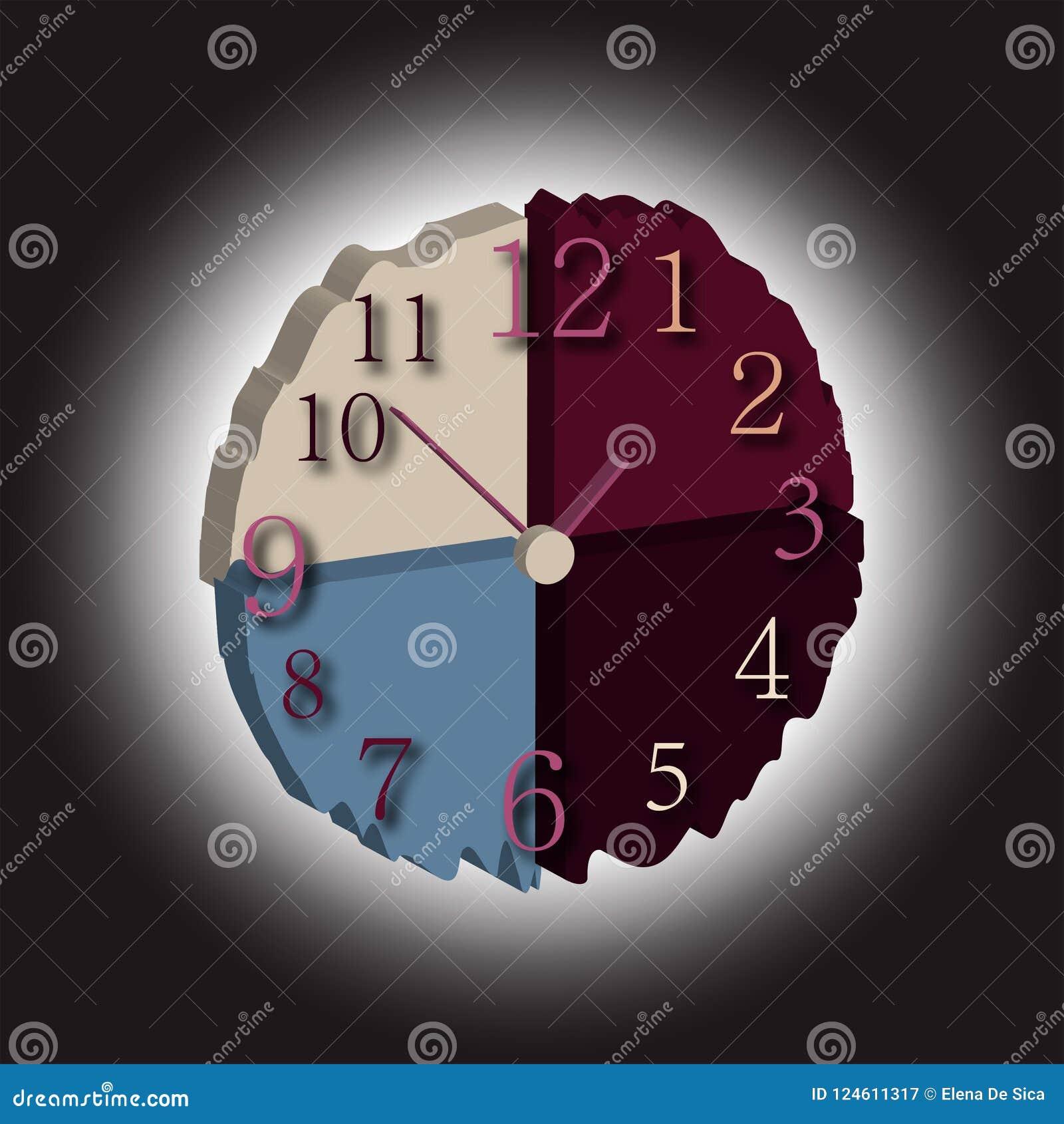 Reloj de pared el tiempo consume