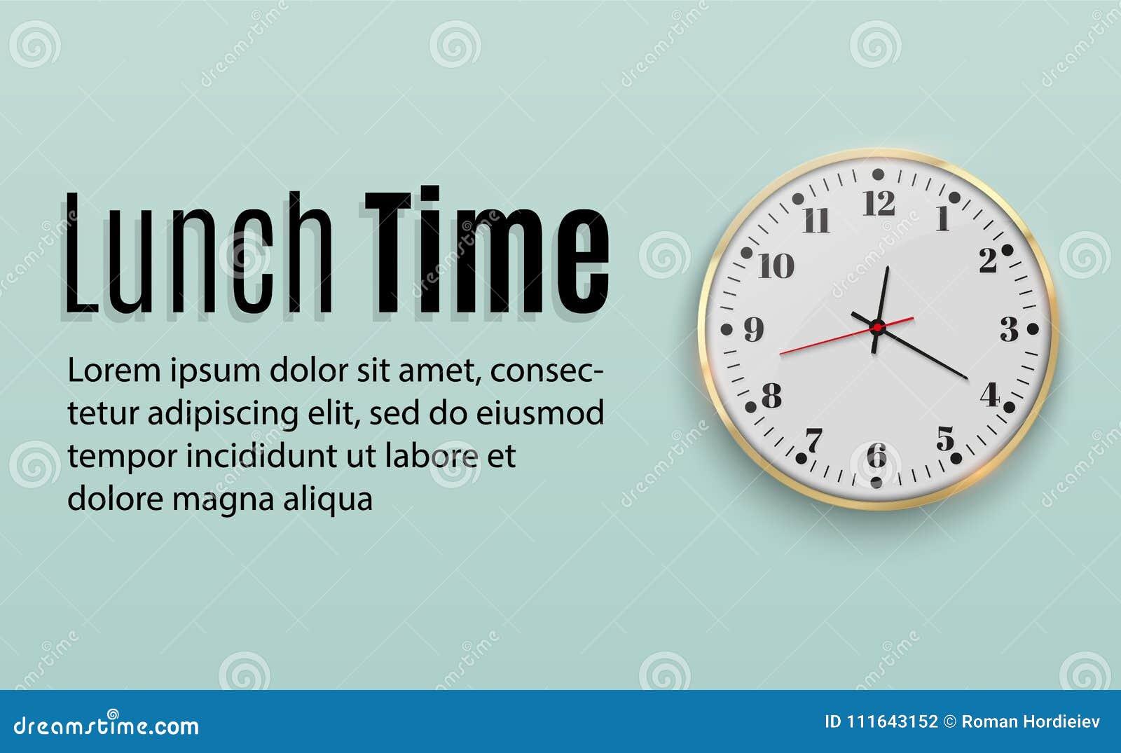 Reloj De Pared De La Oficina Diseño De La Plantilla En De ...