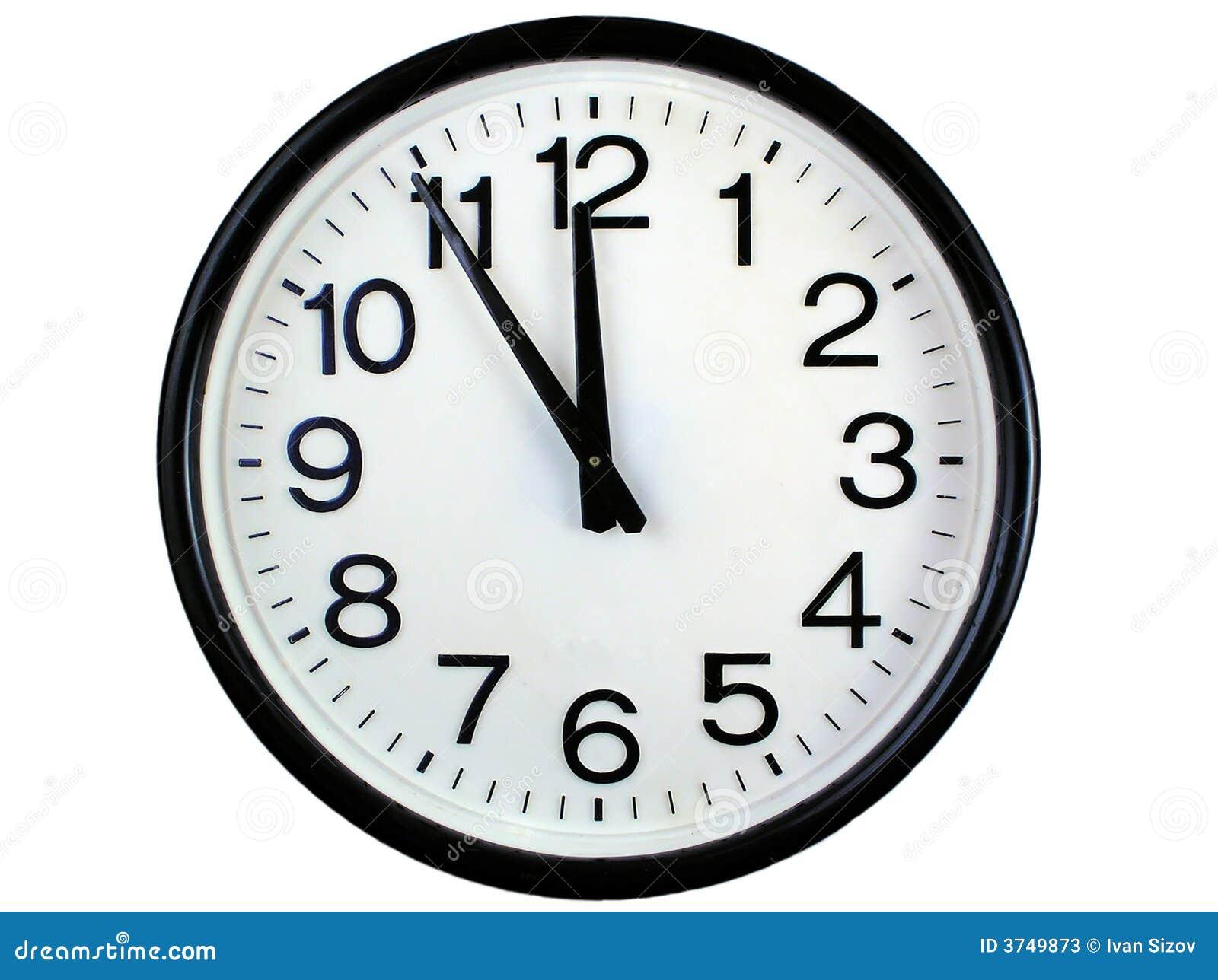 Reloj de pared redondo imagen de archivo imagen de tarde - Reloj decorativo de pared ...