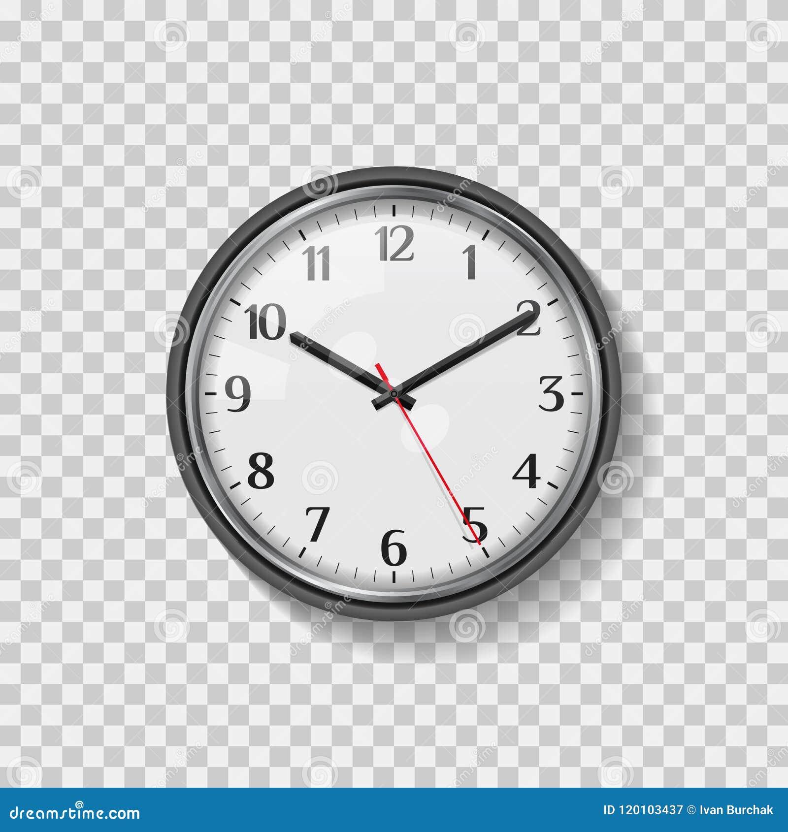 Reloj de pared redondo del análogo de cuarzo Reloj moderno de la oficina de Minimalistic Cara de reloj con números árabes Arte re