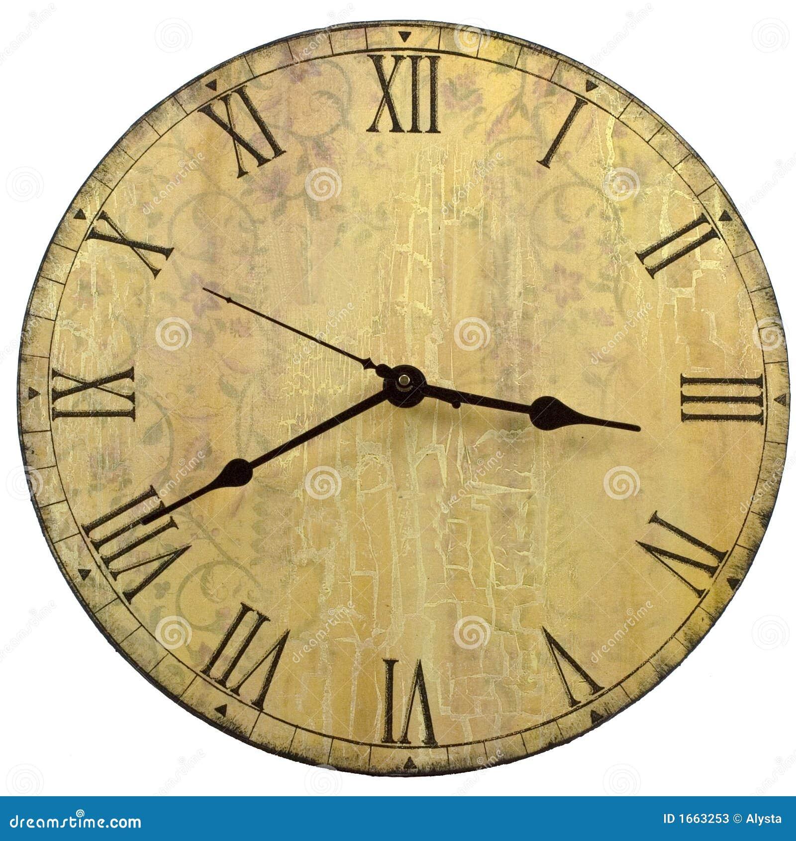 Reloj de pared redondo del viejo estilo imagen de archivo - Relojes de pared clasicos ...