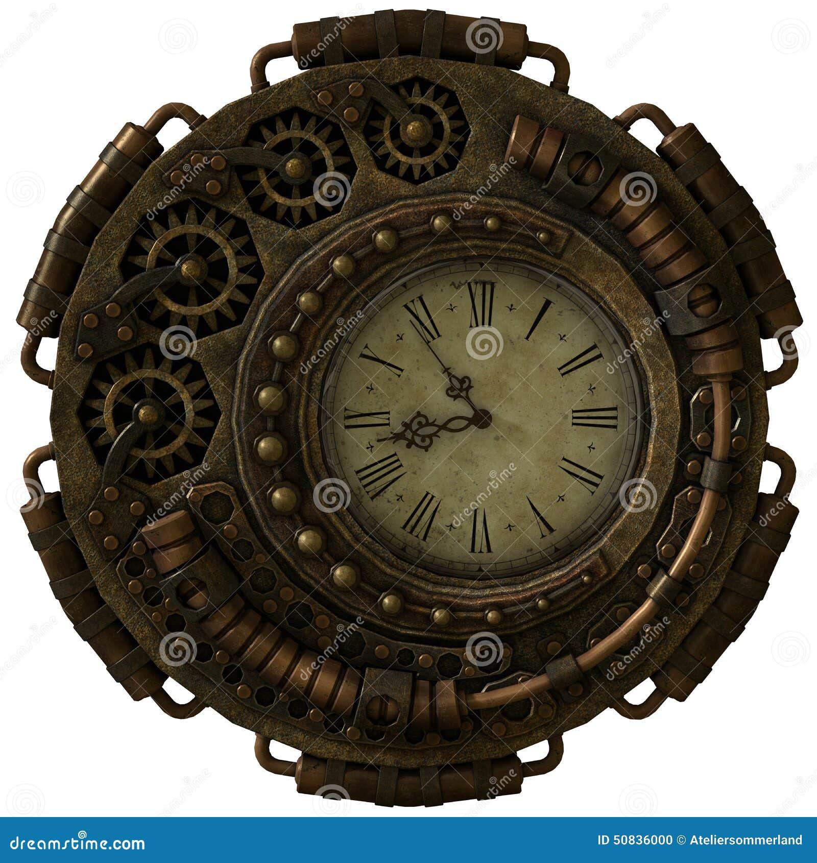 Cg Stock Steampunk3d Arte Reloj De IlustraciónIlustración O80kXwnP