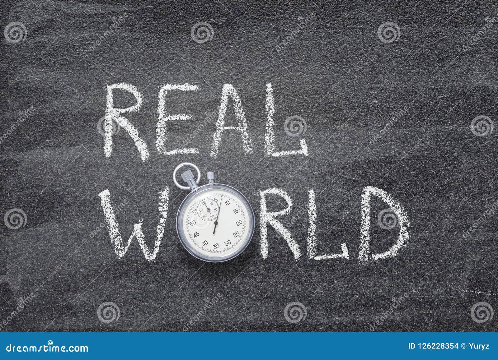 Reloj del mundo real