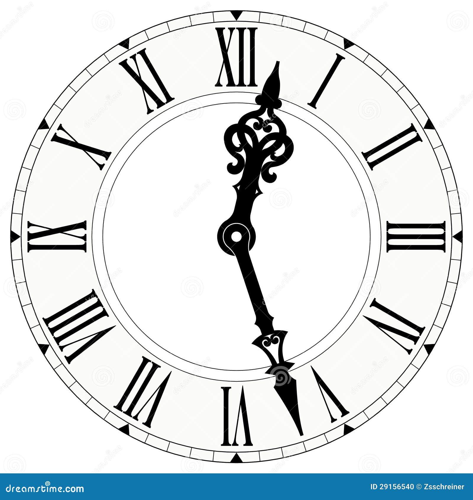reloj del n mero romano stock de ilustraci n imagen de