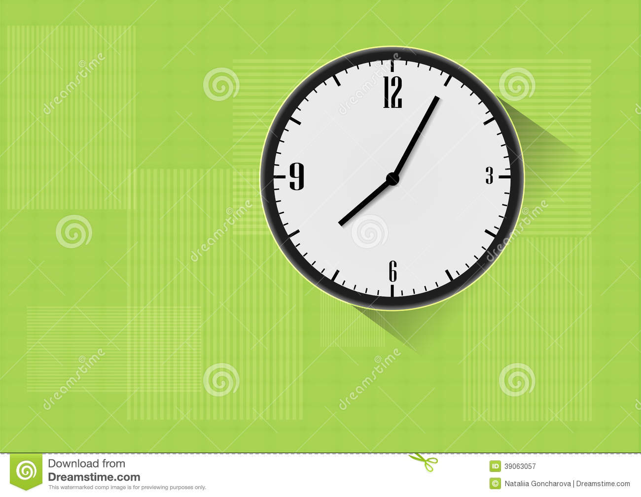 Vector Reloj Del 10 Stock Un Background Verde Ilustración De En eps 2bHeD9IYWE