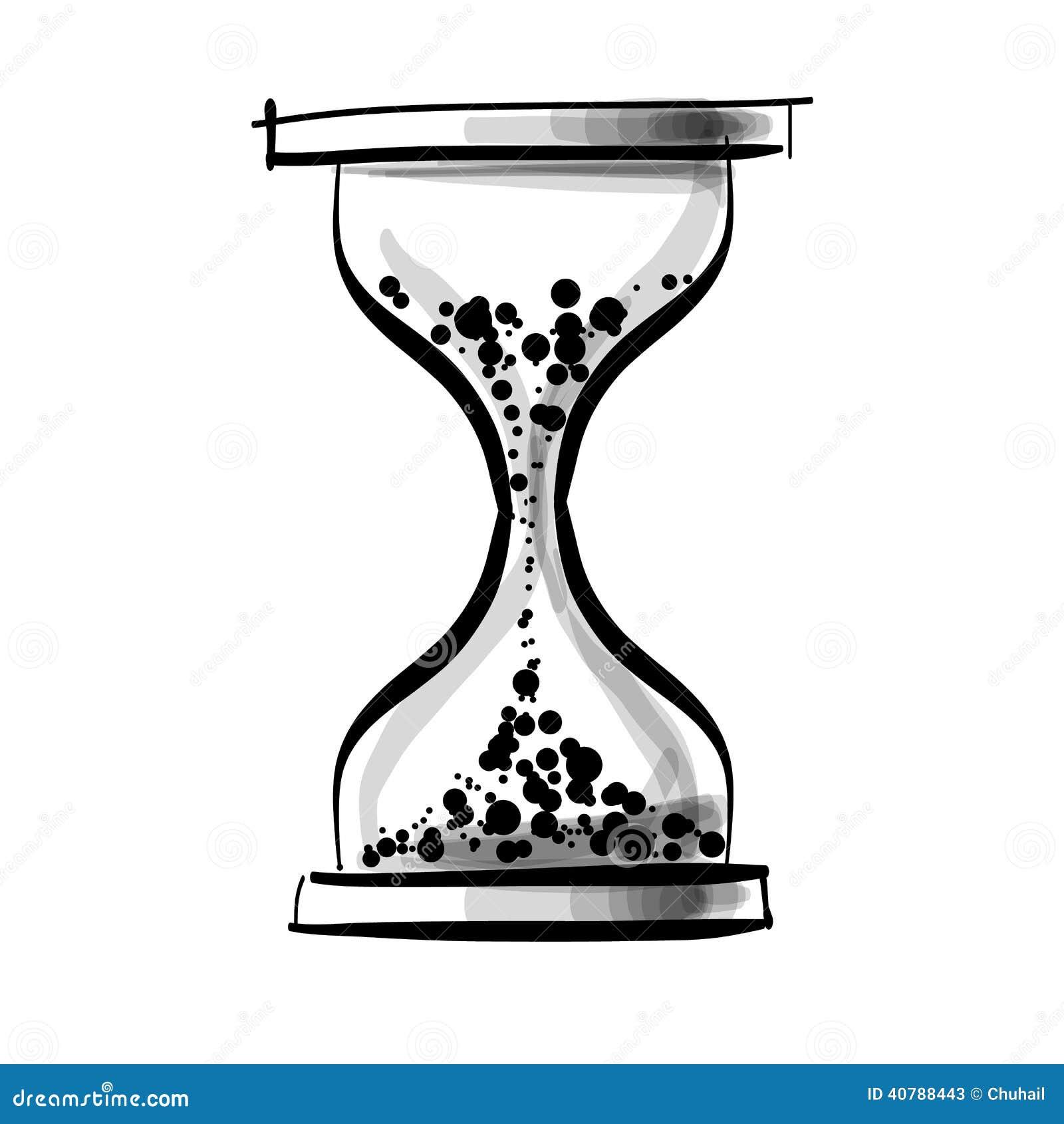 Reloj del vidrio de la arena ilustraci n del vector for Fotos de reloj de arena