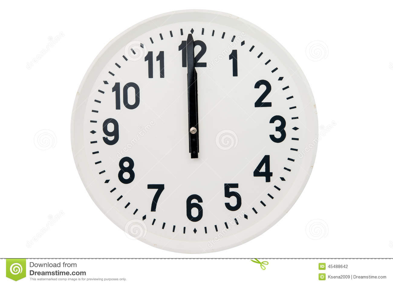 Reloj grande aislado foto de archivo imagen de a o - Reloj grande de pared ...