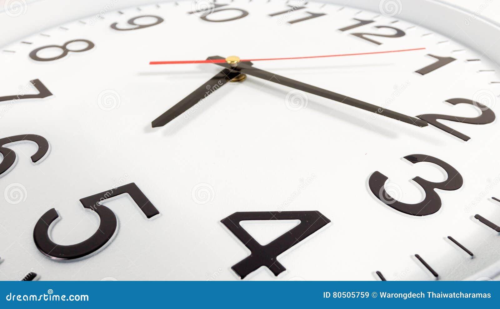 O Tiempo Con Blac Del Blanco Fondo Y Rojo Reloj Abstracto PZXn80NwOk