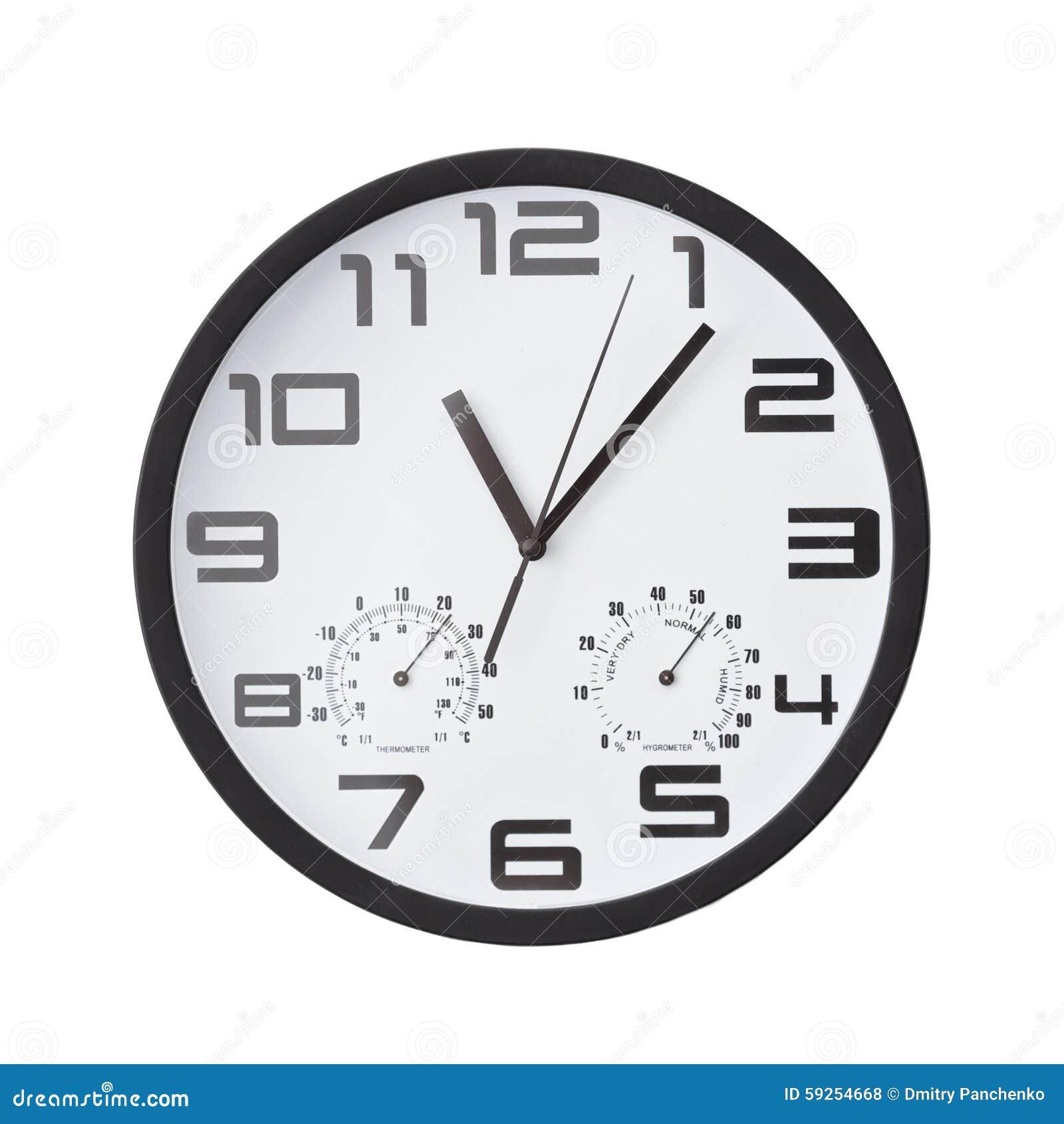 Reloj redondo grande en la pared blanca foto de archivo - Fotos en la pared ...
