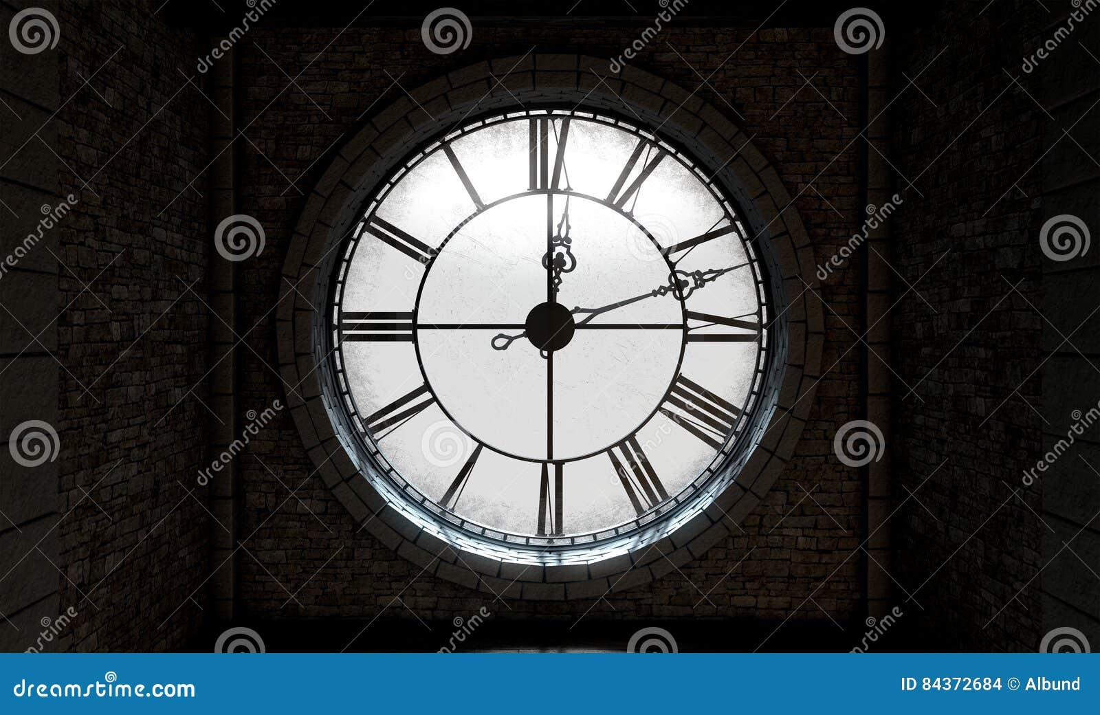 Reloj Retroiluminado De Stock Antigüedad La Ilustración xdBoCe