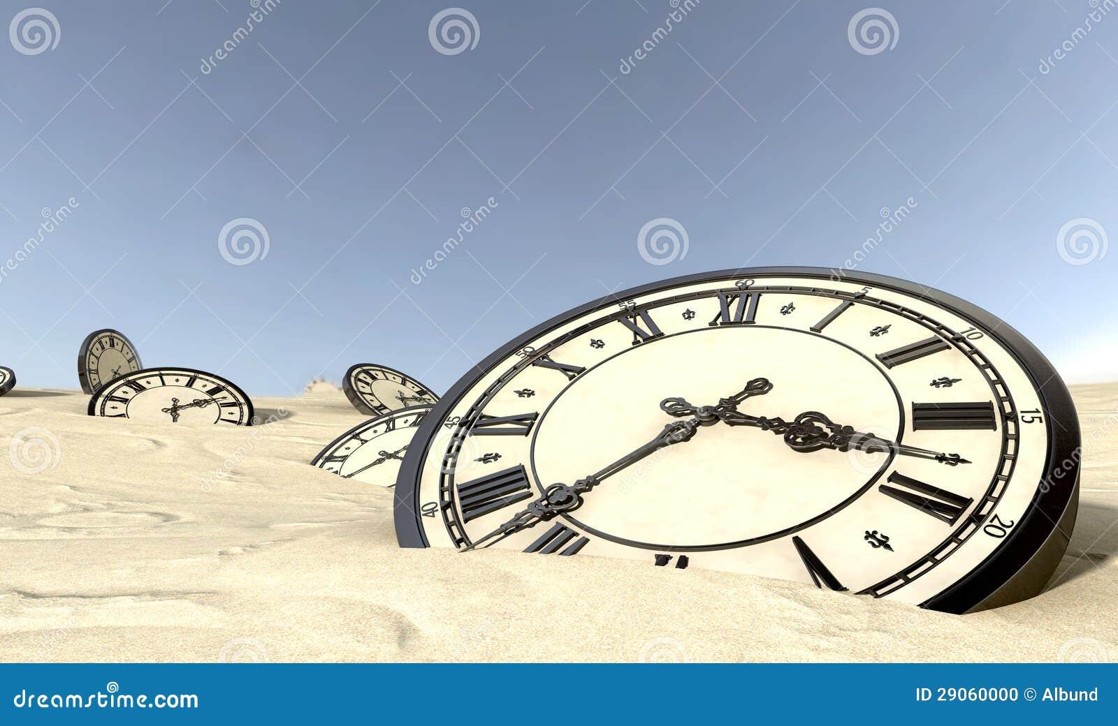 Relojes antiguos en arena del desierto stock de - Relojes de pared clasicos ...