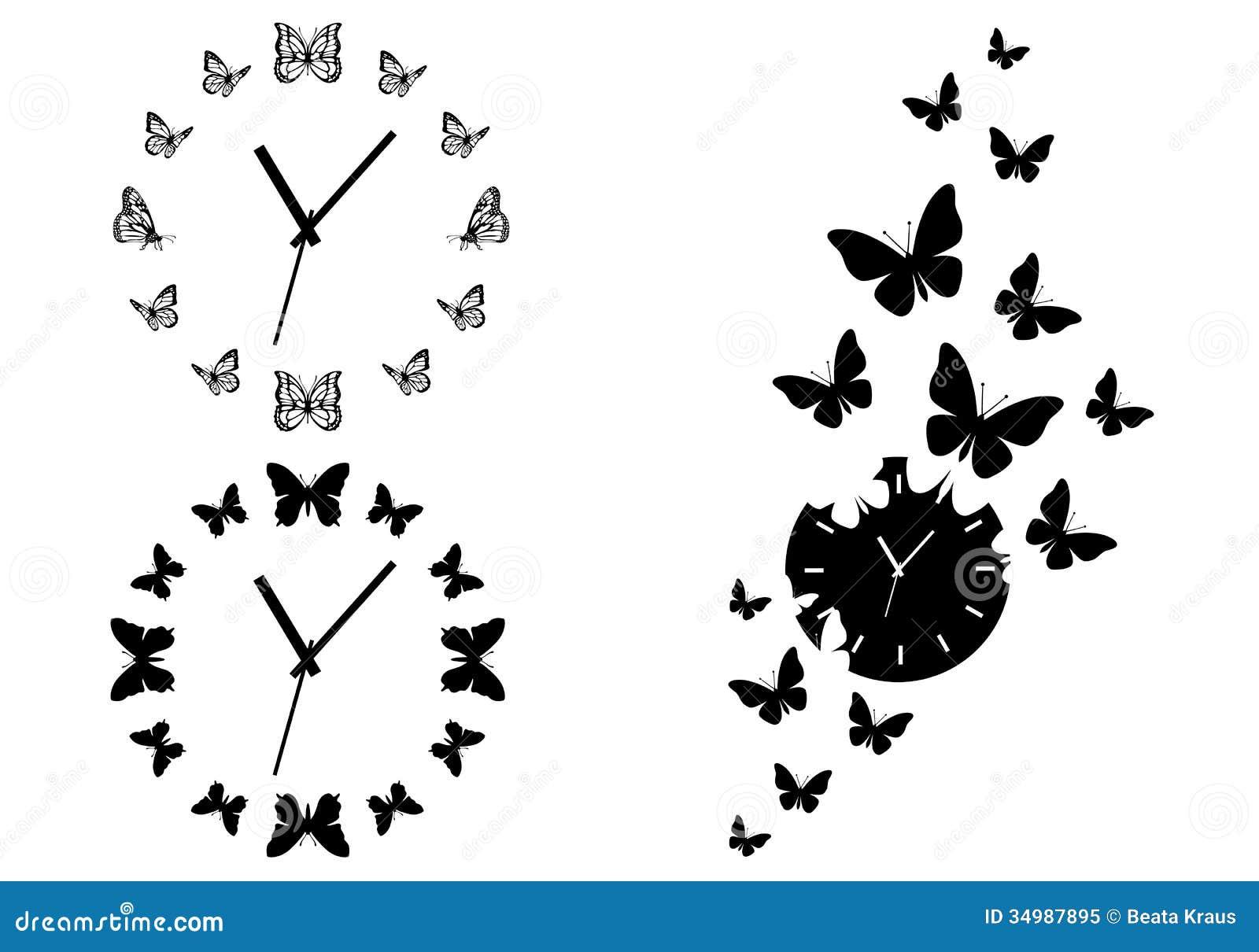 Relojes de la mariposa, sistema del vector