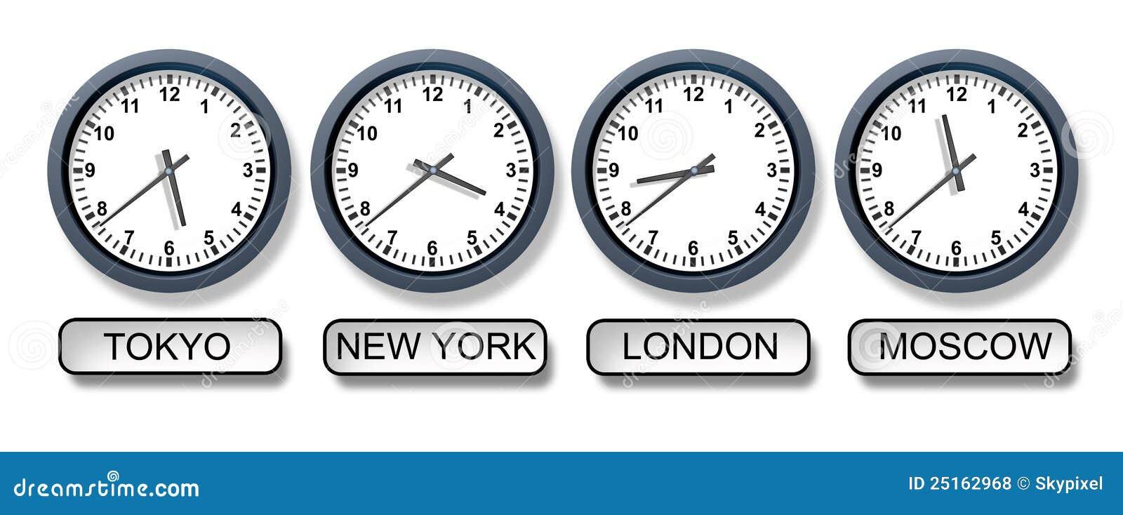 748f596eaaf5 La zona horaria del mundo registra con un reloj de Tokio Nueva York Londres  y de Moscú que representa asunto internacional y los diversos tiempos de ...