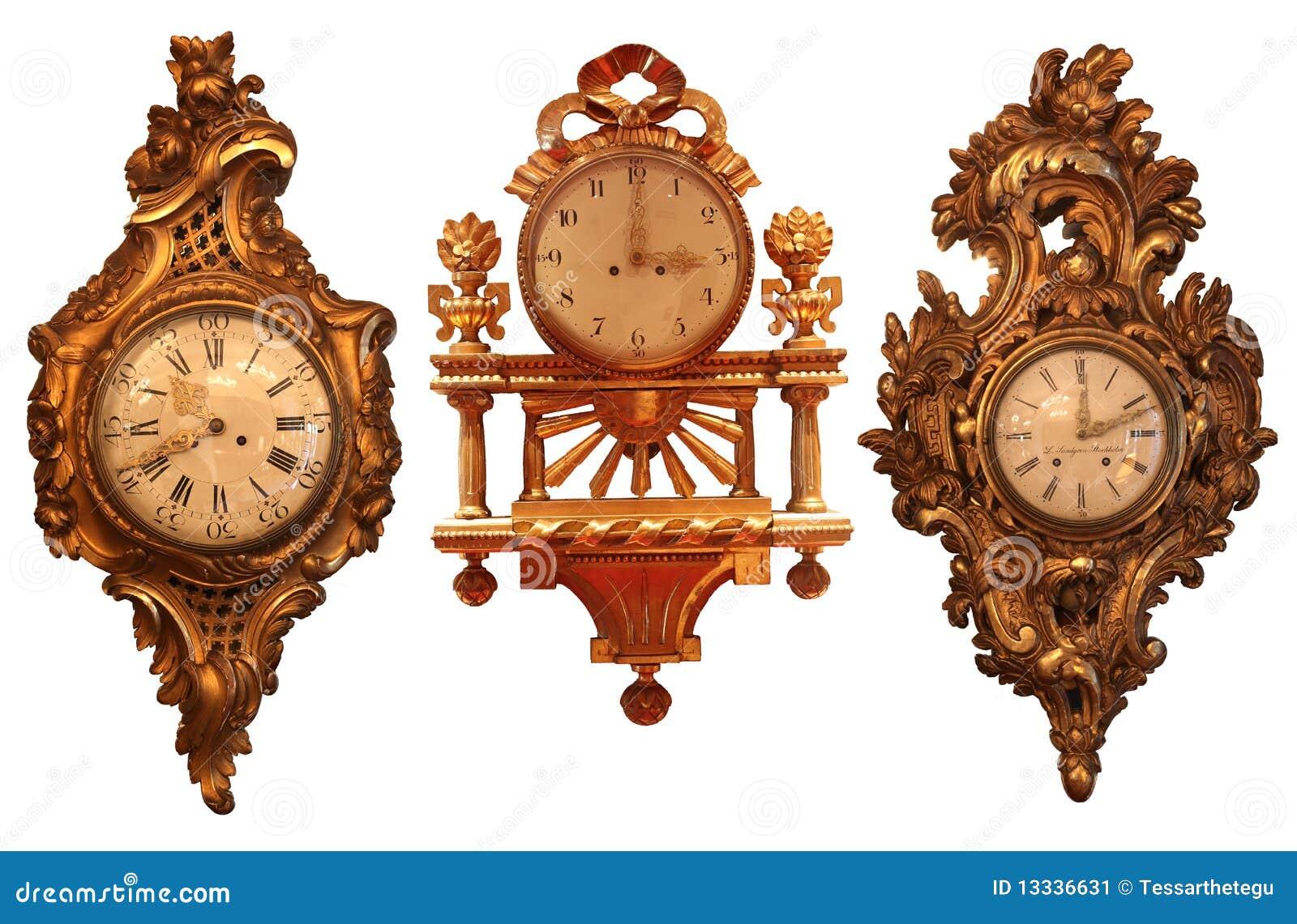 Relojes de pared antiguos con la estructura de madera for Relojes de pared antiguos precios