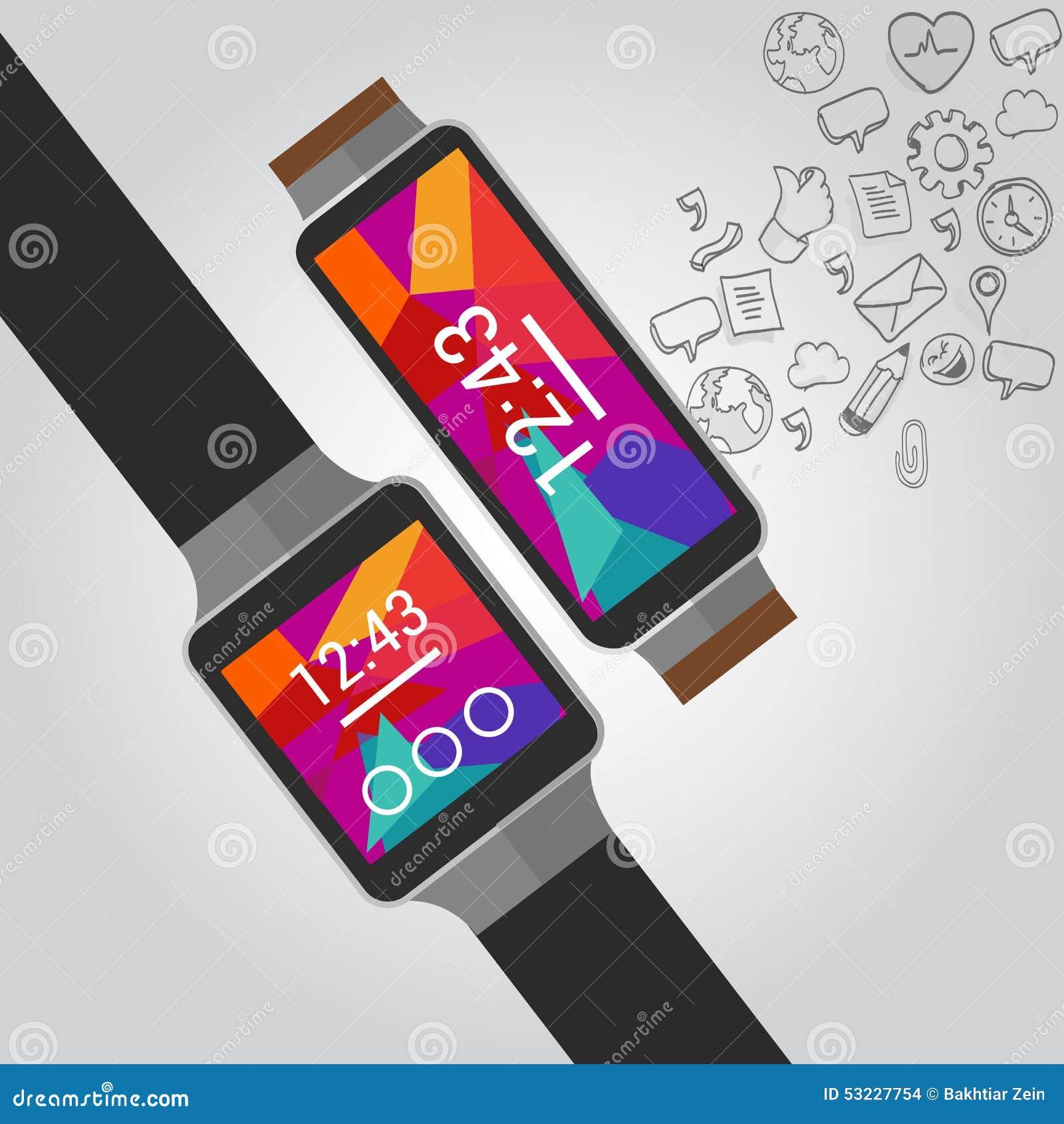 Relojes elegantes del vector usable con el icono