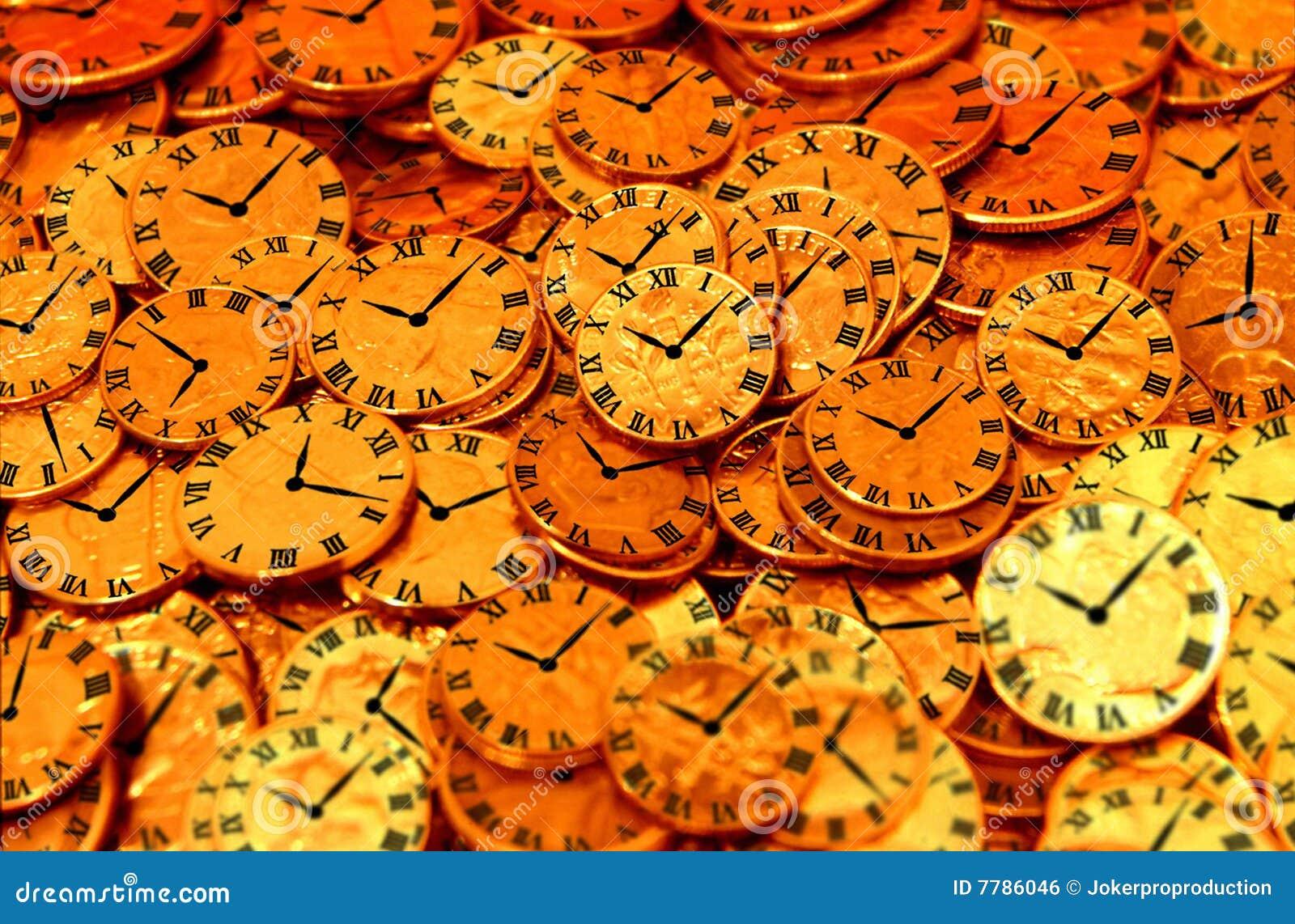 Relojes y monedas