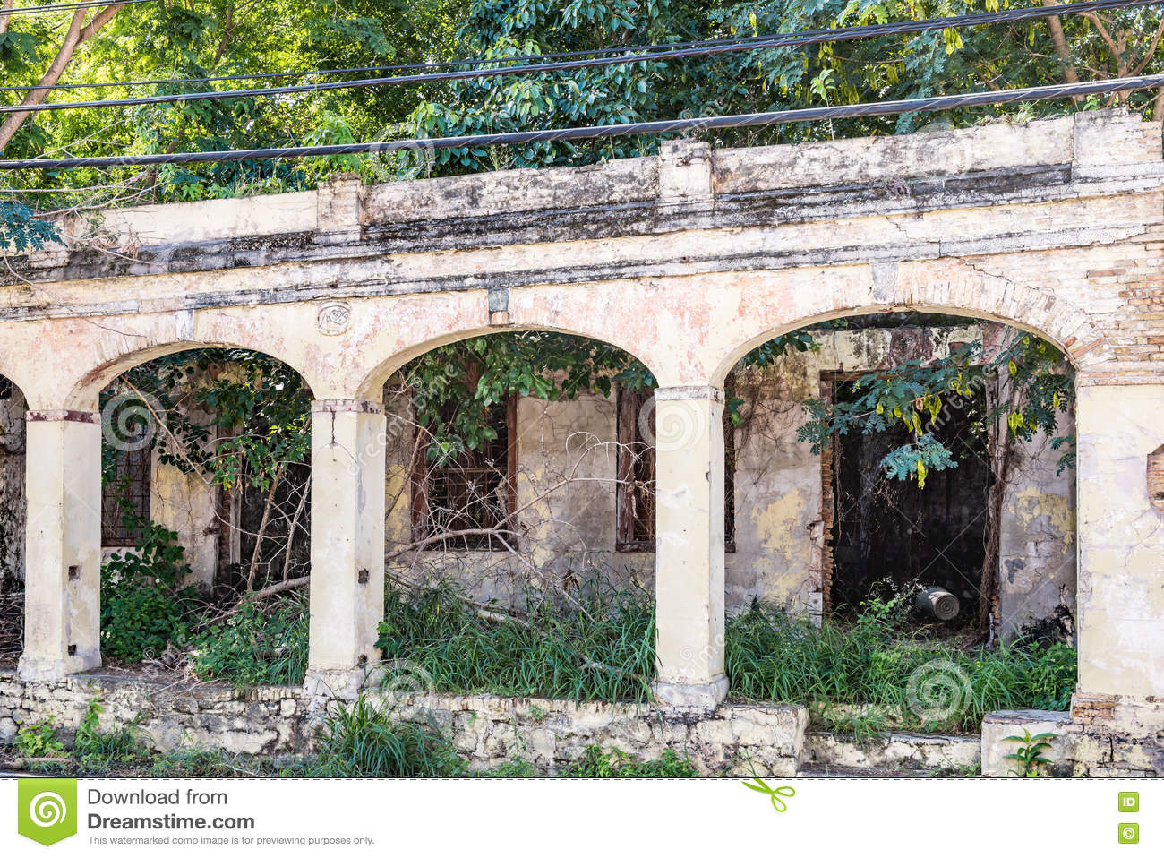 Remains of abandoned building