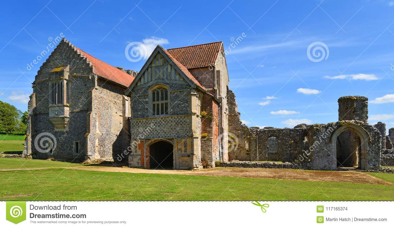 The Remains Of Castle Acre Priory Norfolk Editorial Stock Image
