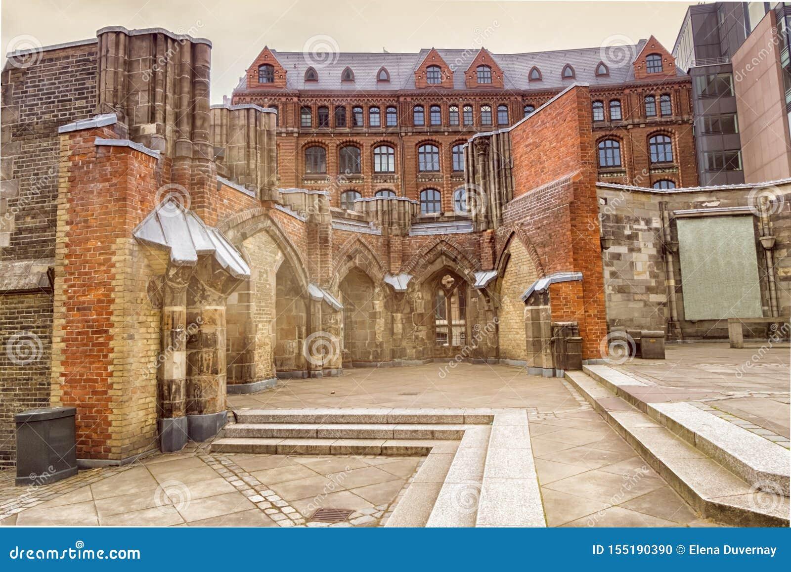 Remains of the Saint Nicholas church, Hamburg, Germany