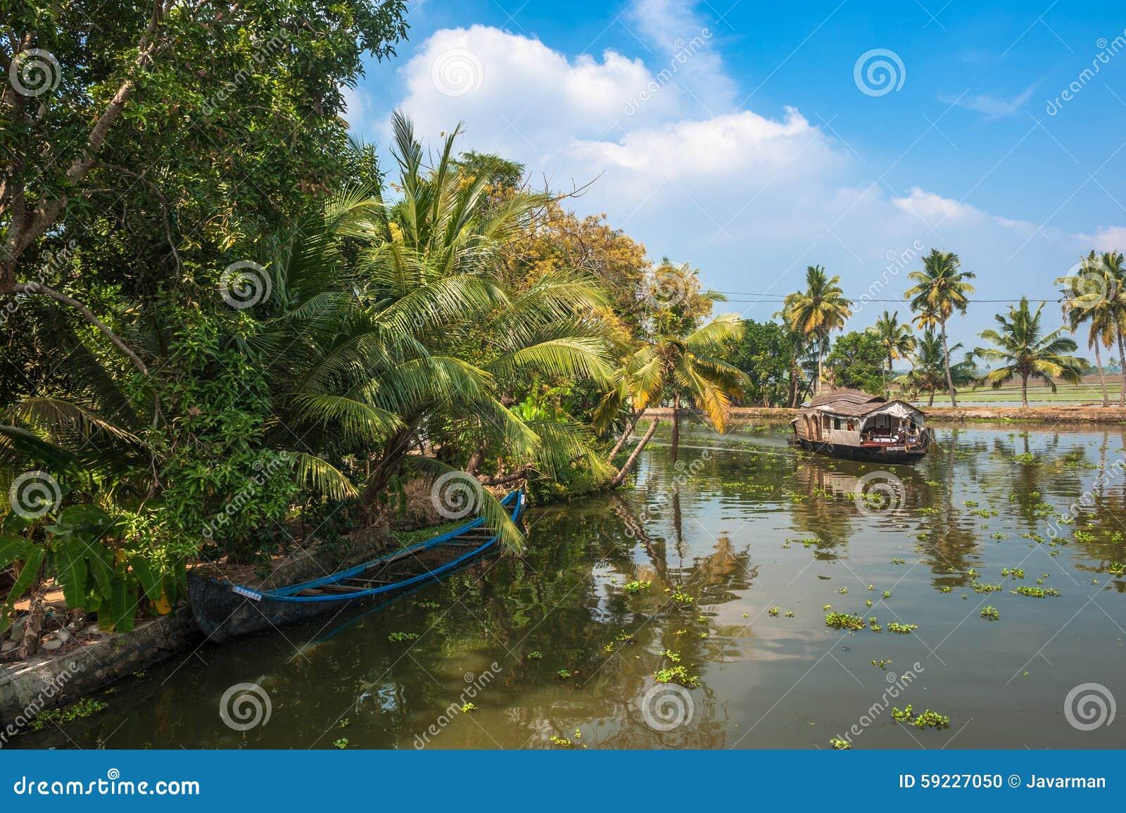 Remansos de Kerala, la India