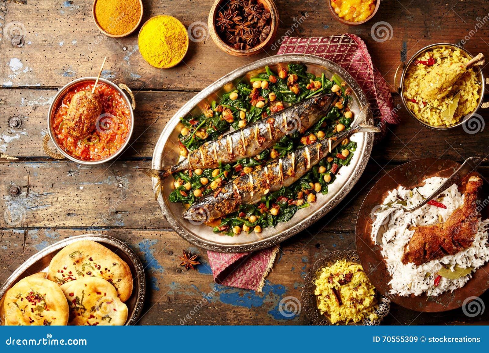 Remate abajo de la opinión sobre estilo cocido del indio de los pescados