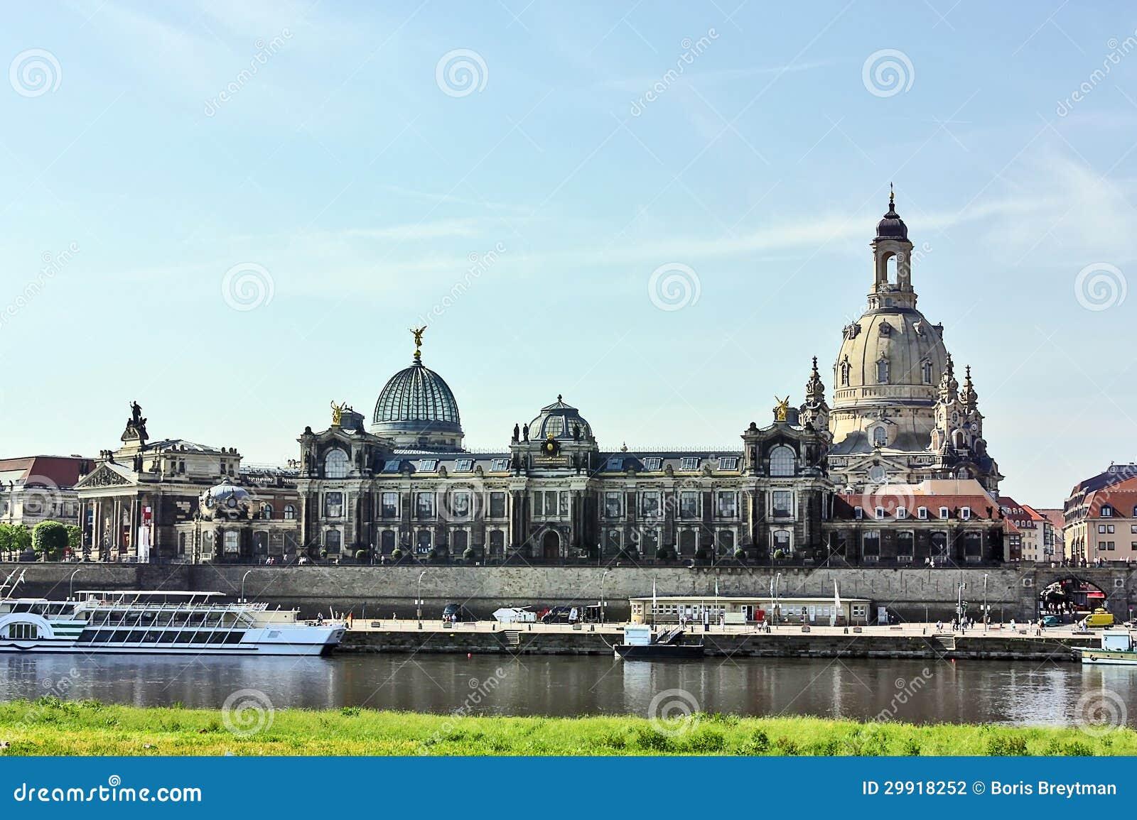 Remblai De La Vieille Ville De Dresde Saxe Allemagne