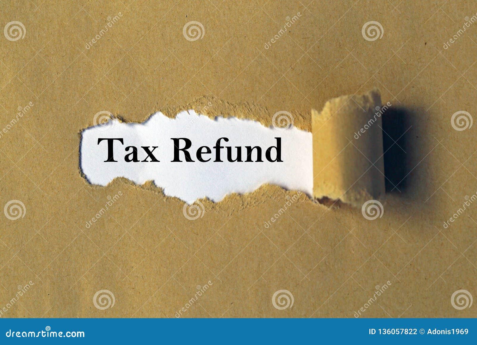 Remboursement d imp?t fiscal