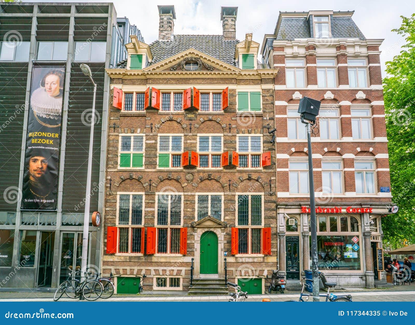 Rembrandt domu muzeum dokąd Rembrandt malował najwięcej jego paitings w starej Żydowskiej ćwiartce Amsterdam