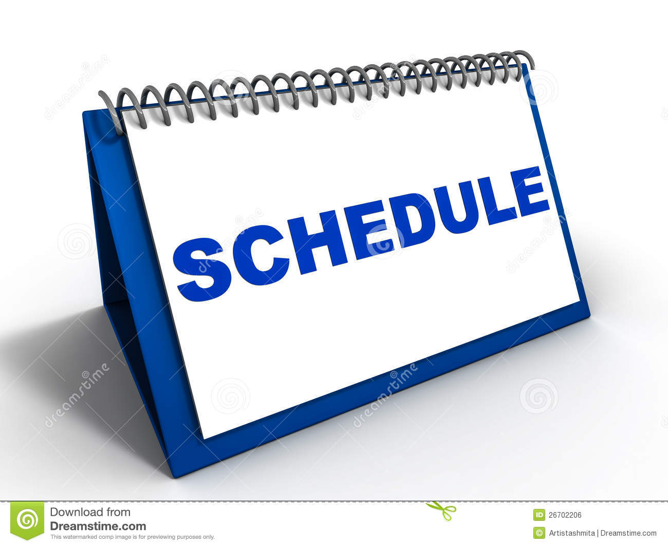 ... or weekly schedule for important meetings, appointments and tasks